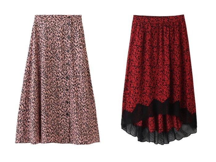 【ZADIG & VOLTAIRE/ザディグ エ ヴォルテール】のJUNE SQUELETON JAC LEO IKAT SKIRT スカート&JOSLIN SMALL BICO FLOWERS SKIRT スカート 【スカート】おすすめ!人気、トレンド・レディースファッションの通販  おすすめ人気トレンドファッション通販アイテム 人気、トレンドファッション・服の通販 founy(ファニー) ファッション Fashion レディースファッション WOMEN スカート Skirt 2020年 2020 2020-2021秋冬・A/W AW・Autumn/Winter・FW・Fall-Winter/2020-2021 2021年 2021 2021-2022秋冬・A/W AW・Autumn/Winter・FW・Fall-Winter・2021-2022 A/W・秋冬 AW・Autumn/Winter・FW・Fall-Winter とろみ なめらか シルク プリント レオパード ロング フィット フラワー レース |ID:crp329100000062928