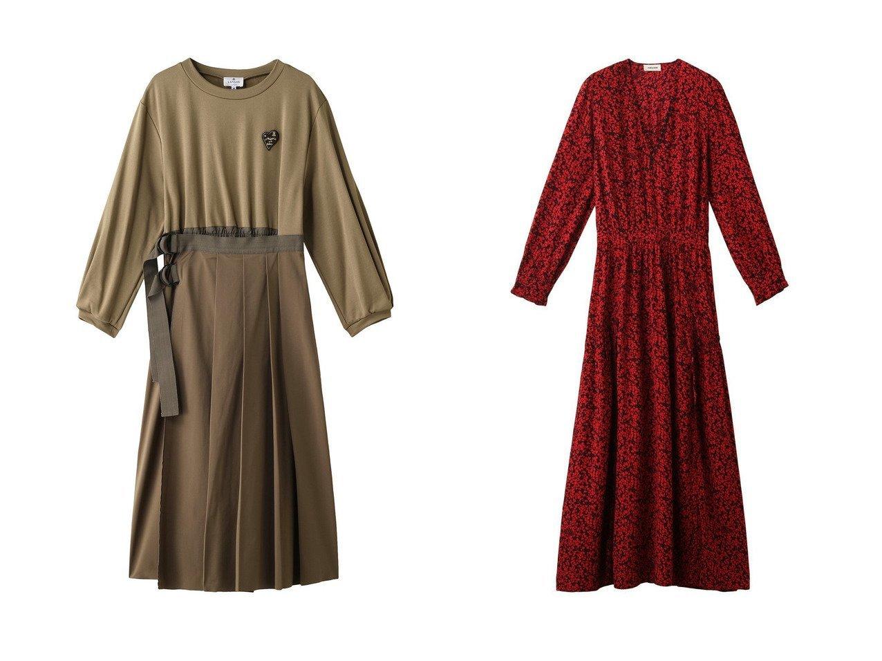 【LANVIN en Bleu/ランバン オン ブルー】のラッププリーツワンピース&【ZADIG & VOLTAIRE/ザディグ エ ヴォルテール】のRABELLA SMALL BICO FLOWERS DRESS ワンピース 【ワンピース・ドレス】おすすめ!人気、トレンド・レディースファッションの通販  おすすめで人気の流行・トレンド、ファッションの通販商品 インテリア・家具・メンズファッション・キッズファッション・レディースファッション・服の通販 founy(ファニー) https://founy.com/ ファッション Fashion レディースファッション WOMEN ワンピース Dress チュニック Tunic ドレス Party Dresses おすすめ Recommend カットソー チュニック ドッキング プリーツ ラップ ワーク 2020年 2020 2020-2021秋冬・A/W AW・Autumn/Winter・FW・Fall-Winter/2020-2021 2021年 2021 2021-2022秋冬・A/W AW・Autumn/Winter・FW・Fall-Winter・2021-2022 A/W・秋冬 AW・Autumn/Winter・FW・Fall-Winter なめらか スリット パーティ フラワー  ID:crp329100000062960
