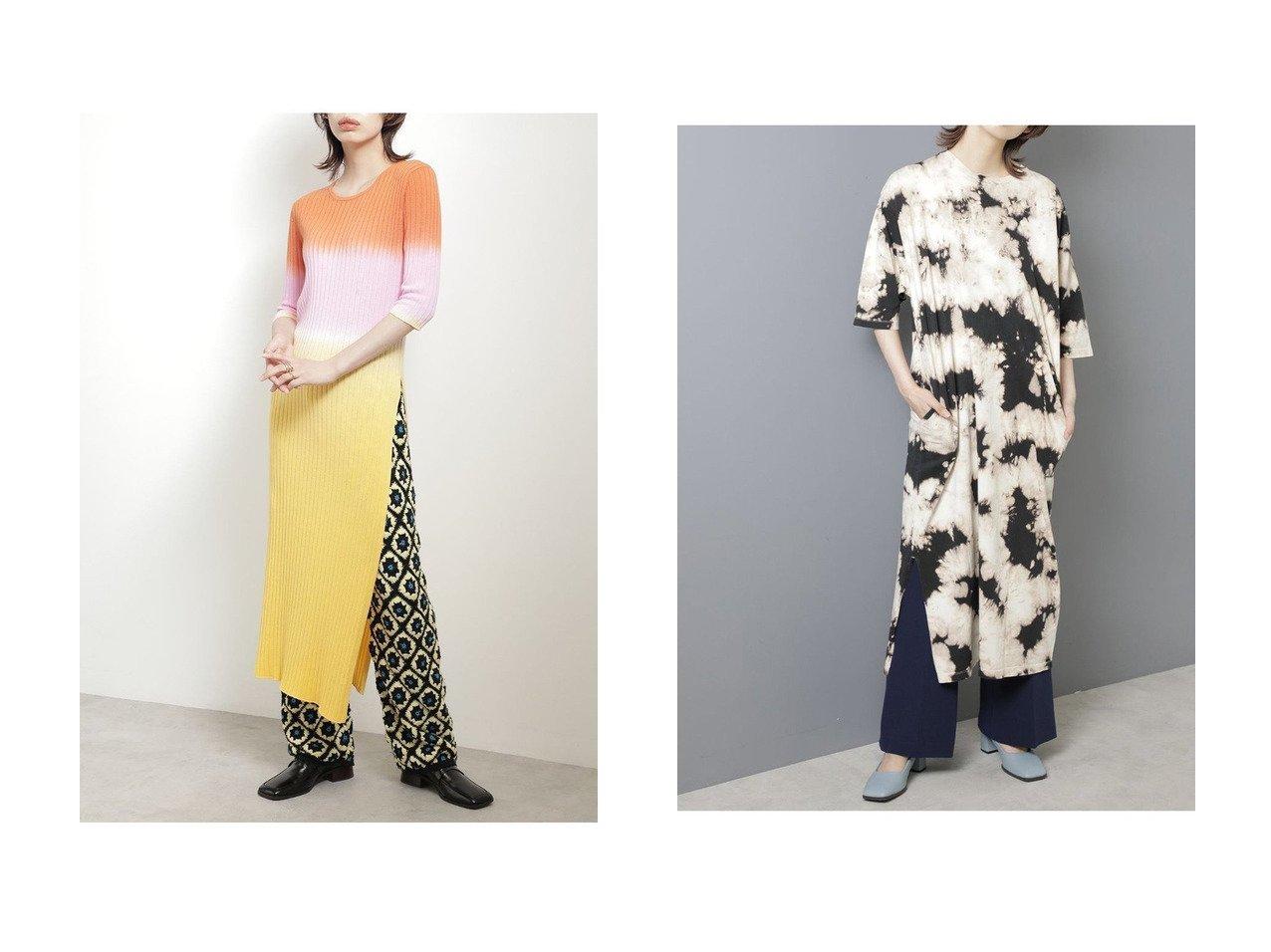 【ROSE BUD/ローズバッド】のボーダータイダイニットワンピース&ブリーチワンピース 【ワンピース・ドレス】おすすめ!人気、トレンド・レディースファッションの通販  おすすめで人気の流行・トレンド、ファッションの通販商品 インテリア・家具・メンズファッション・キッズファッション・レディースファッション・服の通販 founy(ファニー) https://founy.com/ ファッション Fashion レディースファッション WOMEN ワンピース Dress ニットワンピース Knit Dresses チュニック Tunic 2020年 2020 2020-2021秋冬・A/W AW・Autumn/Winter・FW・Fall-Winter/2020-2021 2021年 2021 2021-2022秋冬・A/W AW・Autumn/Winter・FW・Fall-Winter・2021-2022 A/W・秋冬 AW・Autumn/Winter・FW・Fall-Winter グラデーション ストレート スリット チュニック デニム フィット ボーダー おすすめ Recommend ブリーチ モノトーン  ID:crp329100000062962