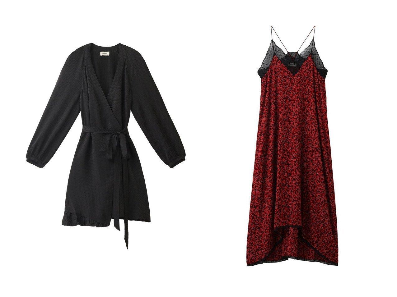 【ZADIG & VOLTAIRE/ザディグ エ ヴォルテール】のRISTY SMALL BICO FLOWERS DRESS ワンピース&RUSSO JAC ZV 3D DRESS ワンピース 【ワンピース・ドレス】おすすめ!人気、トレンド・レディースファッションの通販  おすすめで人気の流行・トレンド、ファッションの通販商品 インテリア・家具・メンズファッション・キッズファッション・レディースファッション・服の通販 founy(ファニー) https://founy.com/ ファッション Fashion レディースファッション WOMEN ワンピース Dress ドレス Party Dresses チュニック Tunic 2020年 2020 2020-2021秋冬・A/W AW・Autumn/Winter・FW・Fall-Winter/2020-2021 2021年 2021 2021-2022秋冬・A/W AW・Autumn/Winter・FW・Fall-Winter・2021-2022 A/W・秋冬 AW・Autumn/Winter・FW・Fall-Winter とろみ シルク チュニック パーティ フリル なめらか ドレス フェミニン リゾート レース ロング  ID:crp329100000062963