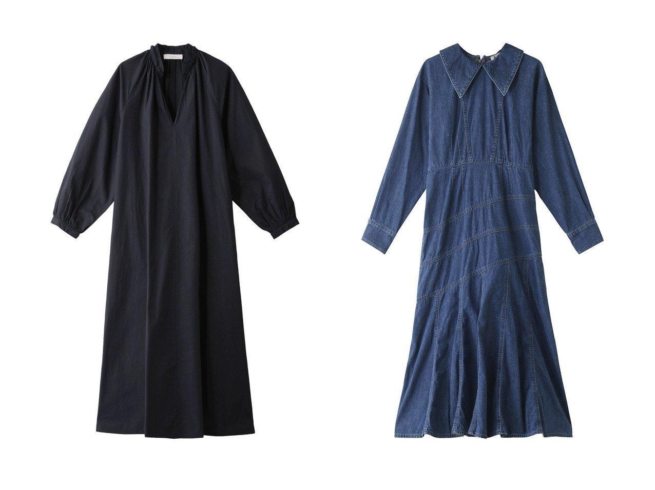 【normment/ノーメント】のポプリンギャザーシャツドレス&【leur logette/ルール ロジェット】のデニムドレス 【ワンピース・ドレス】おすすめ!人気、トレンド・レディースファッションの通販  おすすめで人気の流行・トレンド、ファッションの通販商品 インテリア・家具・メンズファッション・キッズファッション・レディースファッション・服の通販 founy(ファニー) https://founy.com/ ファッション Fashion レディースファッション WOMEN ワンピース Dress ドレス Party Dresses チュニック Tunic 2020年 2020 2020-2021秋冬・A/W AW・Autumn/Winter・FW・Fall-Winter/2020-2021 2021年 2021 2021-2022秋冬・A/W AW・Autumn/Winter・FW・Fall-Winter・2021-2022 A/W・秋冬 AW・Autumn/Winter・FW・Fall-Winter ギャザー シンプル スリット チュニック フリル デニム ドレス フレア ロング  ID:crp329100000062968