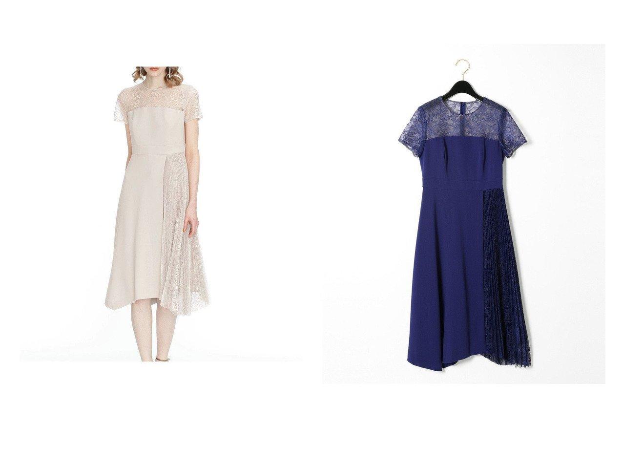 【GRACE CONTINENTAL/グレース コンチネンタル】のレースプリーツ切替ワンピース 【ワンピース・ドレス】おすすめ!人気、トレンド・レディースファッションの通販  おすすめで人気の流行・トレンド、ファッションの通販商品 インテリア・家具・メンズファッション・キッズファッション・レディースファッション・服の通販 founy(ファニー) https://founy.com/ ファッション Fashion レディースファッション WOMEN ワンピース Dress ドレス Party Dresses 送料無料 Free Shipping ドレス バランス フォーマル プリーツ レース 再入荷 Restock/Back in Stock/Re Arrival 切替  ID:crp329100000062979