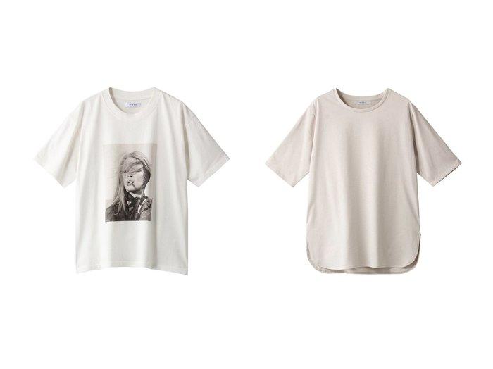 【heliopole/エリオポール】の【ANINE BING】IDA Tシャツ ABxTO-WHITE&ラウンドネック&ヘムプルオーバー 【トップス・カットソー】おすすめ!人気、トレンド・レディースファッションの通販  おすすめ人気トレンドファッション通販アイテム インテリア・キッズ・メンズ・レディースファッション・服の通販 founy(ファニー) https://founy.com/ ファッション Fashion レディースファッション WOMEN トップス・カットソー Tops/Tshirt シャツ/ブラウス Shirts/Blouses ロング / Tシャツ T-Shirts カットソー Cut and Sewn プルオーバー Pullover 2020年 2020 2020-2021秋冬・A/W AW・Autumn/Winter・FW・Fall-Winter/2020-2021 2021年 2021 2021-2022秋冬・A/W AW・Autumn/Winter・FW・Fall-Winter・2021-2022 A/W・秋冬 AW・Autumn/Winter・FW・Fall-Winter ショート シンプル スリーブ フロント プリント 半袖 定番 Standard カーディガン スマート スリット ヘムライン ベーシック ラウンド ロング |ID:crp329100000062984
