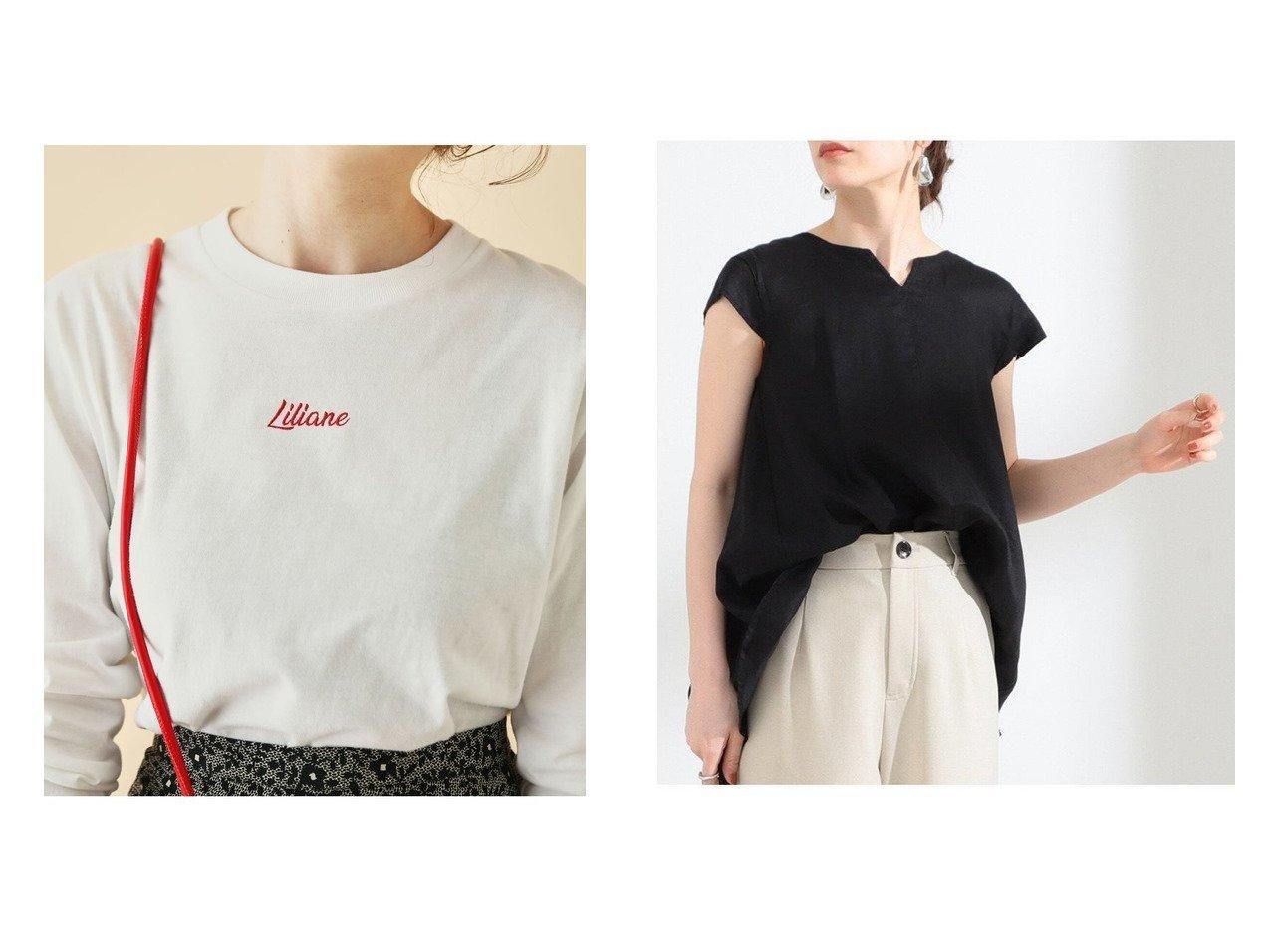 【Ray BEAMS/レイ ビームス】のリネン キーネック フレンチスリーブ シャツ&【ROPE' mademoiselle/ロペ マドモアゼル】のパリジェンヌTシャツ 【トップス・カットソー】おすすめ!人気、トレンド・レディースファッションの通販  おすすめで人気の流行・トレンド、ファッションの通販商品 インテリア・家具・メンズファッション・キッズファッション・レディースファッション・服の通販 founy(ファニー) https://founy.com/ ファッション Fashion レディースファッション WOMEN トップス・カットソー Tops/Tshirt シャツ/ブラウス Shirts/Blouses ロング / Tシャツ T-Shirts カットソー Cut and Sewn アクセサリー インナー カットソー キャミワンピース クラシック コンパクト 今季 ジャケット スリーブ パール ポケット マーメイド モッズコート ロング 冬 Winter おすすめ Recommend シンプル バランス フレア フレンチ リネン  ID:crp329100000063051