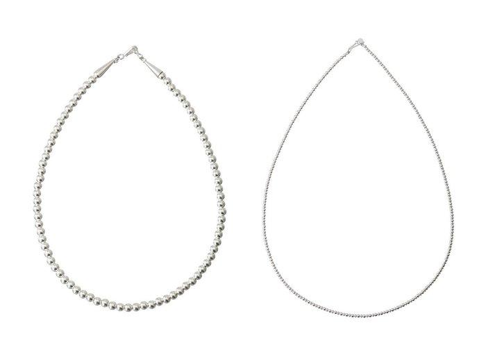 【heliopole/エリオポール】の【HARPO】5mm silver beads ネックレス&【HARPO】3mm silver beads ネックレス おすすめ!人気、トレンド・レディースファッションの通販  おすすめ人気トレンドファッション通販アイテム 人気、トレンドファッション・服の通販 founy(ファニー) ファッション Fashion レディースファッション WOMEN ジュエリー Jewelry ネックレス Necklaces 2020年 2020 2020-2021秋冬・A/W AW・Autumn/Winter・FW・Fall-Winter/2020-2021 2021年 2021 2021-2022秋冬・A/W AW・Autumn/Winter・FW・Fall-Winter・2021-2022 A/W・秋冬 AW・Autumn/Winter・FW・Fall-Winter ジュエリー ネックレス |ID:crp329100000063097