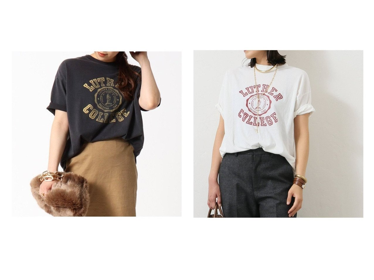 【AP STUDIO/エーピーストゥディオ】の【アールジュビリー】 別注 LUTHER COLLEGE Tシャツ 別注・限定・コラボなど、 おすすめ!人気、トレンド・レディースファッションの通販  おすすめで人気の流行・トレンド、ファッションの通販商品 インテリア・家具・メンズファッション・キッズファッション・レディースファッション・服の通販 founy(ファニー) https://founy.com/ ファッション Fashion レディースファッション WOMEN トップス・カットソー Tops/Tshirt シャツ/ブラウス Shirts/Blouses ロング / Tシャツ T-Shirts カットソー Cut and Sewn カットソー スペシャル スリット プリント 別注 リラックス ルーズ NEW・新作・新着・新入荷 New Arrivals  ID:crp329100000063146