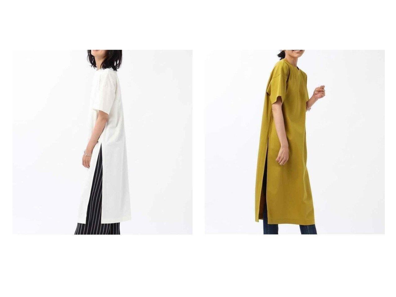 【UNTITLED/アンタイトル】の【WEB限定】スリットロング丈カットソー 【ワンピース・ドレス】おすすめ!人気、トレンド・レディースファッションの通販 おすすめで人気の流行・トレンド、ファッションの通販商品 インテリア・家具・メンズファッション・キッズファッション・レディースファッション・服の通販 founy(ファニー) https://founy.com/ ファッション Fashion レディースファッション WOMEN ワンピース Dress カットソー クール ストライプ スリット プリーツ ボトム ロング |ID:crp329100000063580