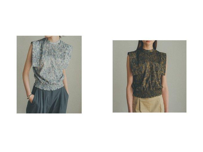 【CLANE/クラネ】のCHINTZ FLOWER SQUARE SLEEVE TOPS 【トップス・カットソー】おすすめ!人気、トレンド・レディースファッションの通販 おすすめ人気トレンドファッション通販アイテム 人気、トレンドファッション・服の通販 founy(ファニー) ファッション Fashion レディースファッション WOMEN トップス・カットソー Tops/Tshirt シャツ/ブラウス Shirts/Blouses ギャザー コンパクト スクエア スリーブ バランス プリント プリーツ ボトム |ID:crp329100000063610