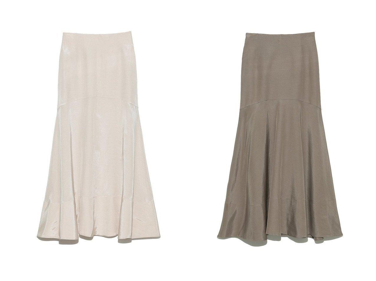 【Mila Owen/ミラオーウェン】のマーメイドスカート 【スカート】おすすめ!人気、トレンド・レディースファッションの通販 おすすめで人気の流行・トレンド、ファッションの通販商品 インテリア・家具・メンズファッション・キッズファッション・レディースファッション・服の通販 founy(ファニー) https://founy.com/ ファッション Fashion レディースファッション WOMEN スカート Skirt ロングスカート Long Skirt おすすめ Recommend カフス ギンガム コンパクト スウェット セットアップ チェック マーメイド リネン リボン ロング |ID:crp329100000063743