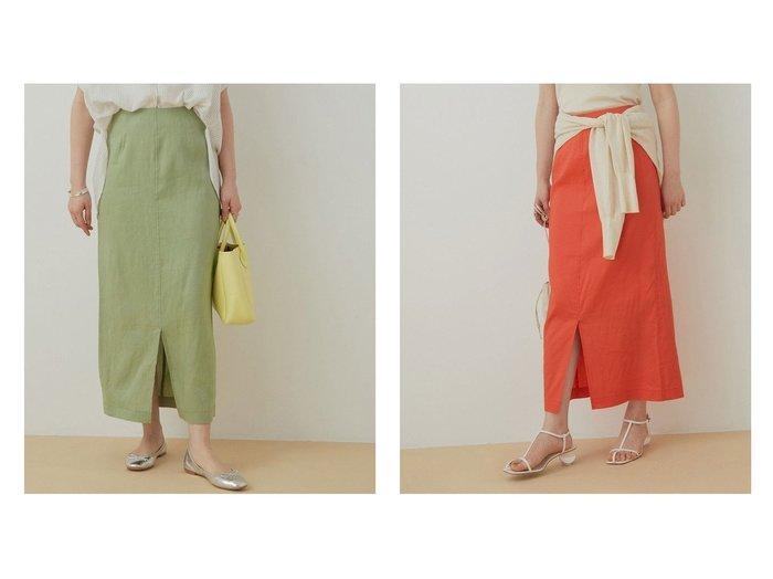 【ADAM ET ROPE'/アダム エ ロペ】のリネンMIXタイトスカート 【スカート】おすすめ!人気、トレンド・レディースファッションの通販 おすすめ人気トレンドファッション通販アイテム インテリア・キッズ・メンズ・レディースファッション・服の通販 founy(ファニー) https://founy.com/ ファッション Fashion レディースファッション WOMEN スカート Skirt オレンジ 春 Spring サンダル シンプル ストレッチ スニーカー スリット タイトスカート 定番 Standard フロント ポケット リネン 2021年 2021 S/S・春夏 SS・Spring/Summer 2021春夏・S/S SS/Spring/Summer/2021 おすすめ Recommend 夏 Summer |ID:crp329100000063744