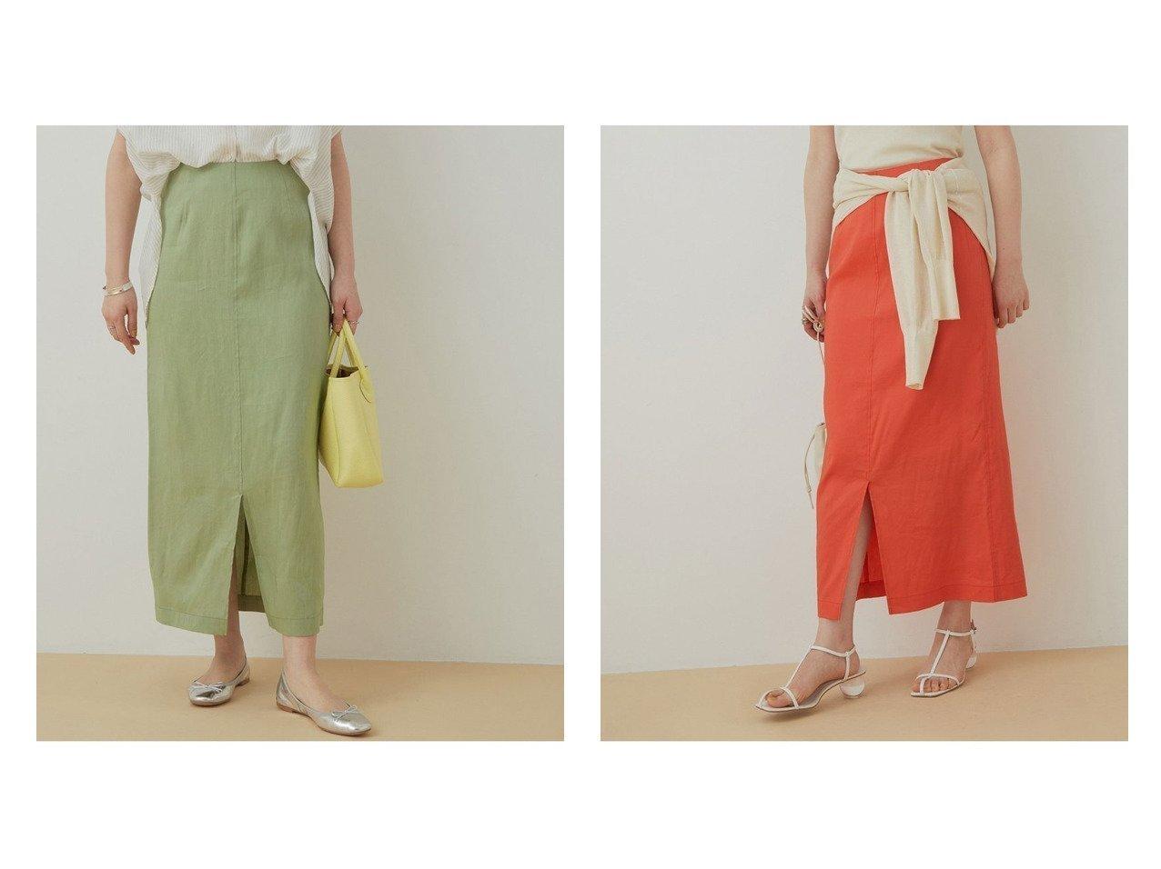 【ADAM ET ROPE'/アダム エ ロペ】のリネンMIXタイトスカート 【スカート】おすすめ!人気、トレンド・レディースファッションの通販 おすすめで人気の流行・トレンド、ファッションの通販商品 インテリア・家具・メンズファッション・キッズファッション・レディースファッション・服の通販 founy(ファニー) https://founy.com/ ファッション Fashion レディースファッション WOMEN スカート Skirt オレンジ 春 Spring サンダル シンプル ストレッチ スニーカー スリット タイトスカート 定番 Standard フロント ポケット リネン 2021年 2021 S/S・春夏 SS・Spring/Summer 2021春夏・S/S SS/Spring/Summer/2021 おすすめ Recommend 夏 Summer |ID:crp329100000063744