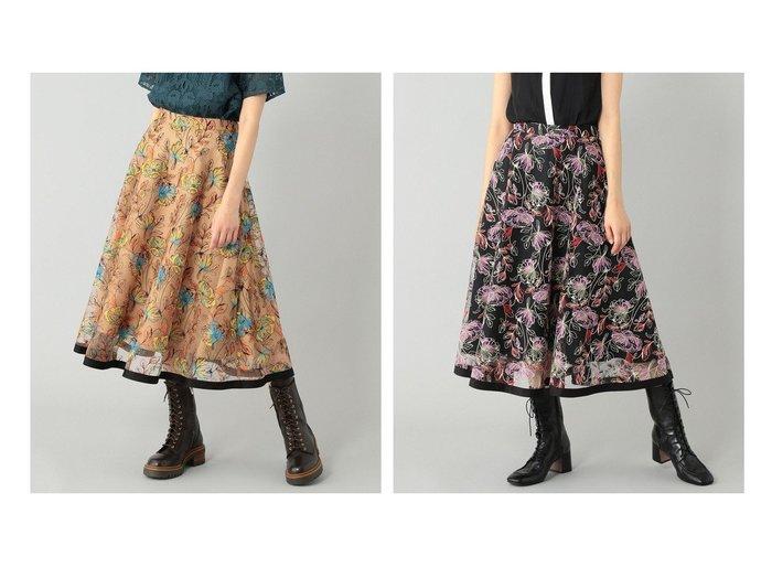 【GRACE CONTINENTAL/グレース コンチネンタル】のフラワーチュールフレアスカート 【スカート】おすすめ!人気、トレンド・レディースファッションの通販 おすすめ人気トレンドファッション通販アイテム 人気、トレンドファッション・服の通販 founy(ファニー)  ファッション Fashion レディースファッション WOMEN スカート Skirt Aライン/フレアスカート Flared A-Line Skirts 送料無料 Free Shipping |ID:crp329100000063747