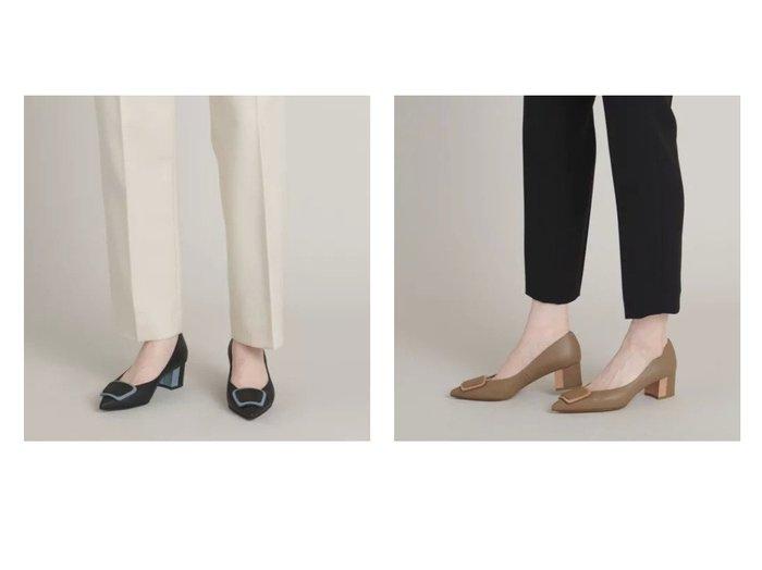 【Odette e Odile/オデット エ オディール】のレザーオーナメント パンプス45↓↑ 【シューズ・靴】おすすめ!人気、トレンド・レディースファッションの通販 おすすめ人気トレンドファッション通販アイテム インテリア・キッズ・メンズ・レディースファッション・服の通販 founy(ファニー) https://founy.com/ ファッション Fashion レディースファッション WOMEN コンビ シューズ フェミニン |ID:crp329100000063749