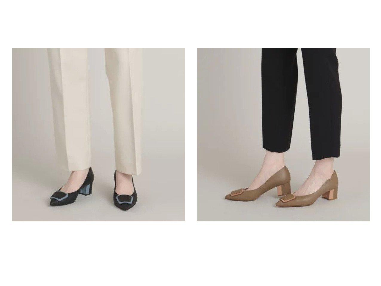 【Odette e Odile/オデット エ オディール】のレザーオーナメント パンプス45↓↑ 【シューズ・靴】おすすめ!人気、トレンド・レディースファッションの通販 おすすめで人気の流行・トレンド、ファッションの通販商品 インテリア・家具・メンズファッション・キッズファッション・レディースファッション・服の通販 founy(ファニー) https://founy.com/ ファッション Fashion レディースファッション WOMEN コンビ シューズ フェミニン |ID:crp329100000063749