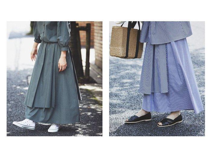 【studio CLIP/スタディオ クリップ】の《kazumiさんコラボ》自由着回しスカート 【スカート】おすすめ!人気、トレンド・レディースファッションの通販 おすすめ人気トレンドファッション通販アイテム インテリア・キッズ・メンズ・レディースファッション・服の通販 founy(ファニー) https://founy.com/ ファッション Fashion レディースファッション WOMEN スカート Skirt NEW・新作・新着・新入荷 New Arrivals おすすめ Recommend ギンガム コラボ スタンダード セットアップ チェック パターン モノトーン ロング 秋 Autumn/Fall  ID:crp329100000063931