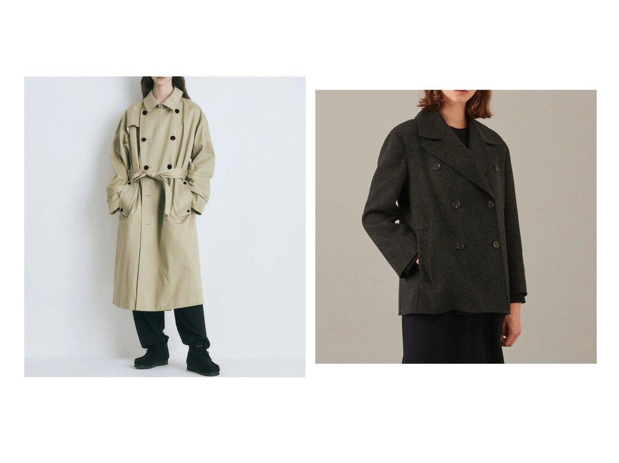 【ATON/エイトン】のWEST POINT オーバーサイズトレンチコート【UNISEX】&【JOSEPH/ジョゼフ】のライトリバー ピーコート 【アウター】おすすめ!人気、トレンド・レディースファッションの通販 おすすめで人気の流行・トレンド、ファッションの通販商品 インテリア・家具・メンズファッション・キッズファッション・レディースファッション・服の通販 founy(ファニー) https://founy.com/ ファッション Fashion レディースファッション WOMEN アウター Coat Outerwear コート Coats ジャケット Jackets トレンチコート Trench Coats 送料無料 Free Shipping UNISEX カリフォルニア ジャケット ラップ 再入荷 Restock/Back in Stock/Re Arrival 定番 Standard ダブル フェイス 軽量  ID:crp329100000063954