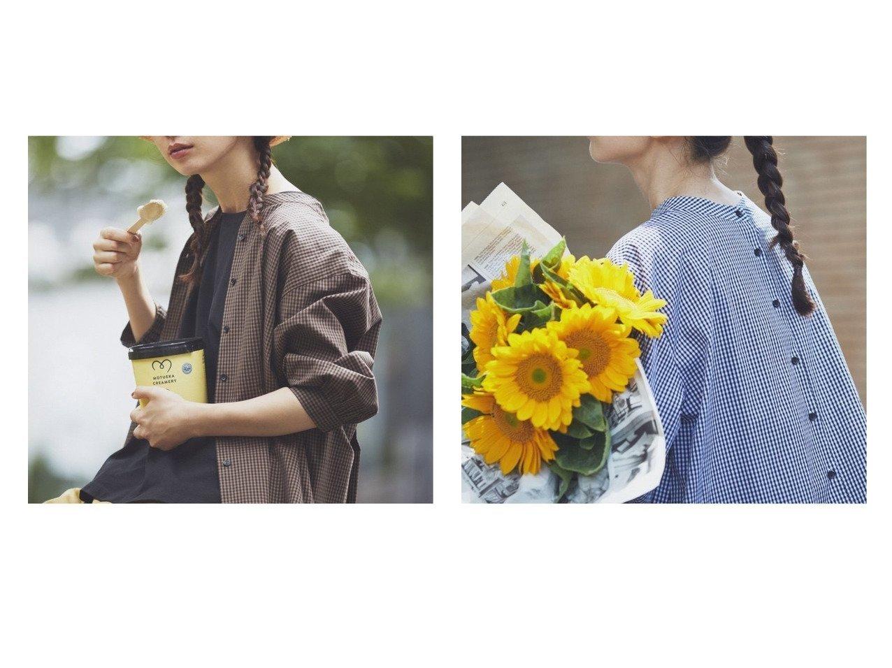 【studio CLIP/スタディオ クリップ】の《kazumiさんコラボ》自由着回しブラウス 【トップス・カットソー】おすすめ!人気、トレンド・レディースファッションの通販 おすすめで人気の流行・トレンド、ファッションの通販商品 インテリア・家具・メンズファッション・キッズファッション・レディースファッション・服の通販 founy(ファニー) https://founy.com/ ファッション Fashion レディースファッション WOMEN トップス・カットソー Tops/Tshirt シャツ/ブラウス Shirts/Blouses NEW・新作・新着・新入荷 New Arrivals おすすめ Recommend ギンガム コラボ スリーブ セットアップ チェック フロント ランダム 秋 Autumn/Fall |ID:crp329100000063991