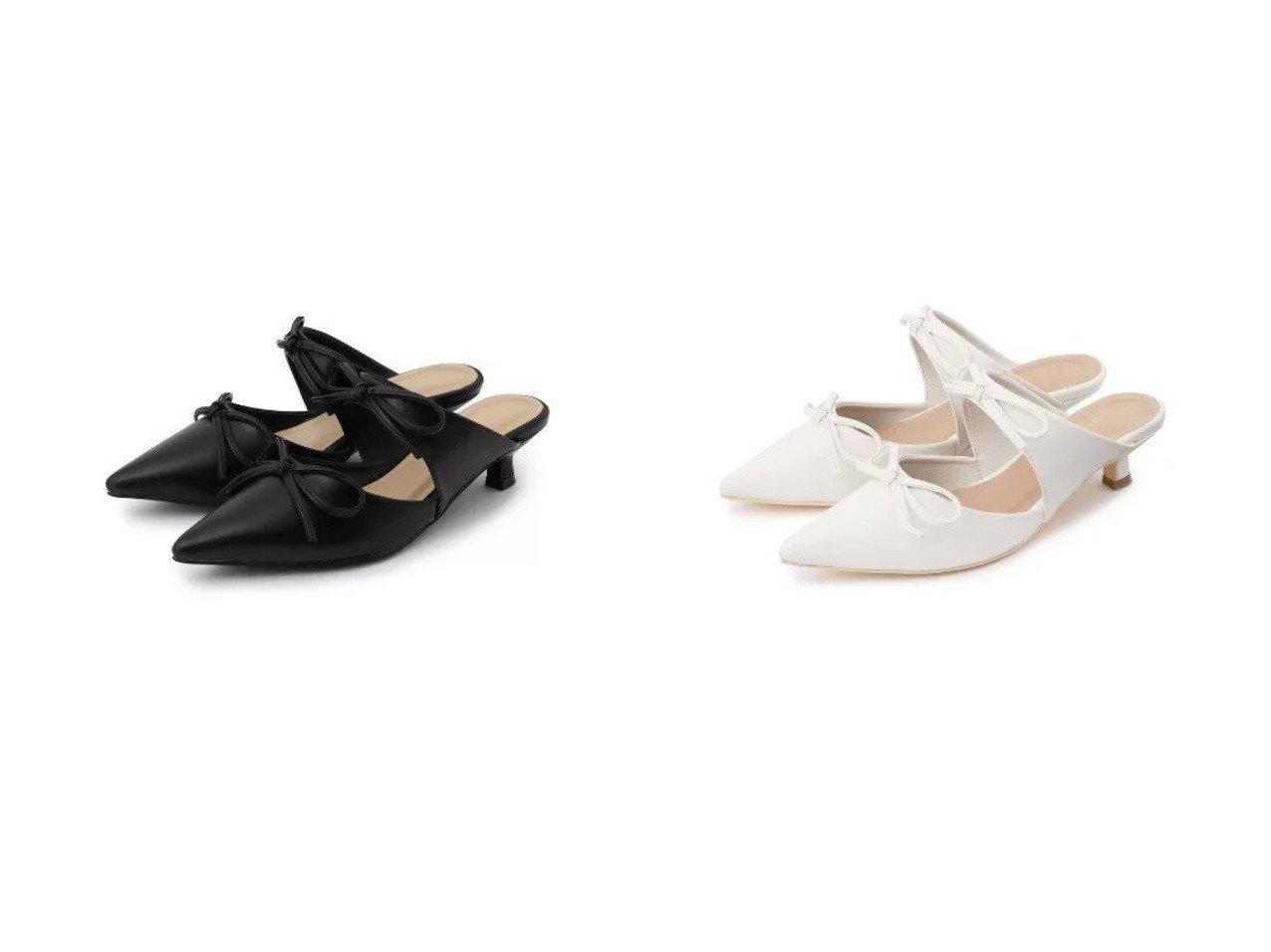 【Couture Brooch/クチュール ブローチ】のダブルリボンミュール おすすめ!人気、トレンド・レディースファッションの通販 おすすめで人気の流行・トレンド、ファッションの通販商品 インテリア・家具・メンズファッション・キッズファッション・レディースファッション・服の通販 founy(ファニー) https://founy.com/ ファッション Fashion レディースファッション WOMEN アンクル サンダル シューズ フェミニン ベーシック ミュール リボン  ID:crp329100000064045