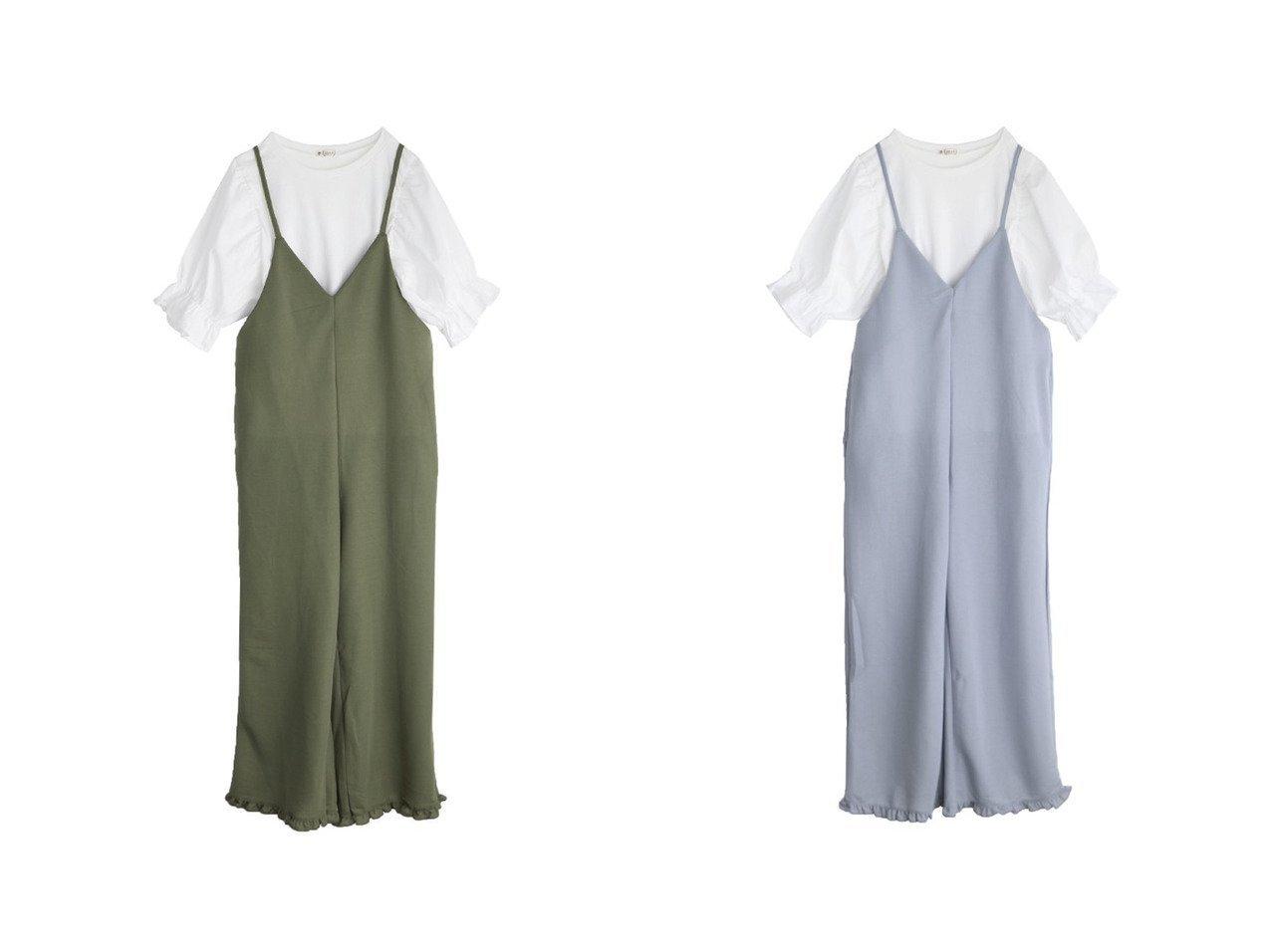【axes femme/アクシーズファム】のTシャツsetコンビネゾン おすすめ!人気、トレンド・レディースファッションの通販 おすすめで人気の流行・トレンド、ファッションの通販商品 インテリア・家具・メンズファッション・キッズファッション・レディースファッション・服の通販 founy(ファニー) https://founy.com/ ファッション Fashion レディースファッション WOMEN コンビネゾン サロペット シンプル ジーンズ 夏 Summer  ID:crp329100000064052