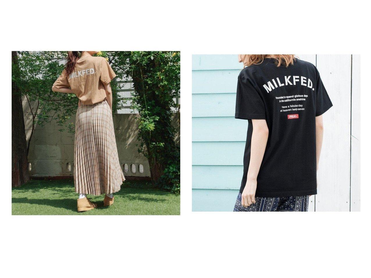 【MILKFED./ミルクフェド】のSS TEE ARCH STENCIL&TEE おすすめ!人気、トレンド・レディースファッションの通販 おすすめで人気の流行・トレンド、ファッションの通販商品 インテリア・家具・メンズファッション・キッズファッション・レディースファッション・服の通販 founy(ファニー) https://founy.com/ ファッション Fashion レディースファッション WOMEN トップス・カットソー Tops/Tshirt シャツ/ブラウス Shirts/Blouses ロング / Tシャツ T-Shirts カットソー Cut and Sewn インナー カットソー ガーリー 今季 スタンダード トレンド プリント ベーシック 半袖 ロング S/S・春夏 SS・Spring/Summer 春 Spring キャミワンピース シンプル ジャケット デニム フェミニン 羽織 メンズ おすすめ Recommend お家時間・ステイホーム Home Time/Stay Home 夏 Summer |ID:crp329100000064055