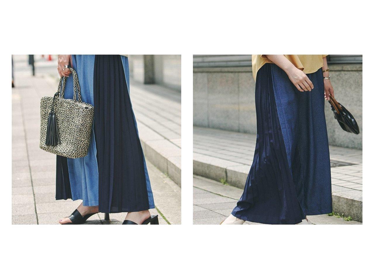 【Chez toi/シェトワ】のデニムサイドプリーツパンツ おすすめ!人気、トレンド・レディースファッションの通販 おすすめで人気の流行・トレンド、ファッションの通販商品 インテリア・家具・メンズファッション・キッズファッション・レディースファッション・服の通販 founy(ファニー) https://founy.com/ ファッション Fashion レディースファッション WOMEN パンツ Pants 吸水 ジーンズ プリーツ 無地 リラックス 再入荷 Restock/Back in Stock/Re Arrival NEW・新作・新着・新入荷 New Arrivals |ID:crp329100000064063