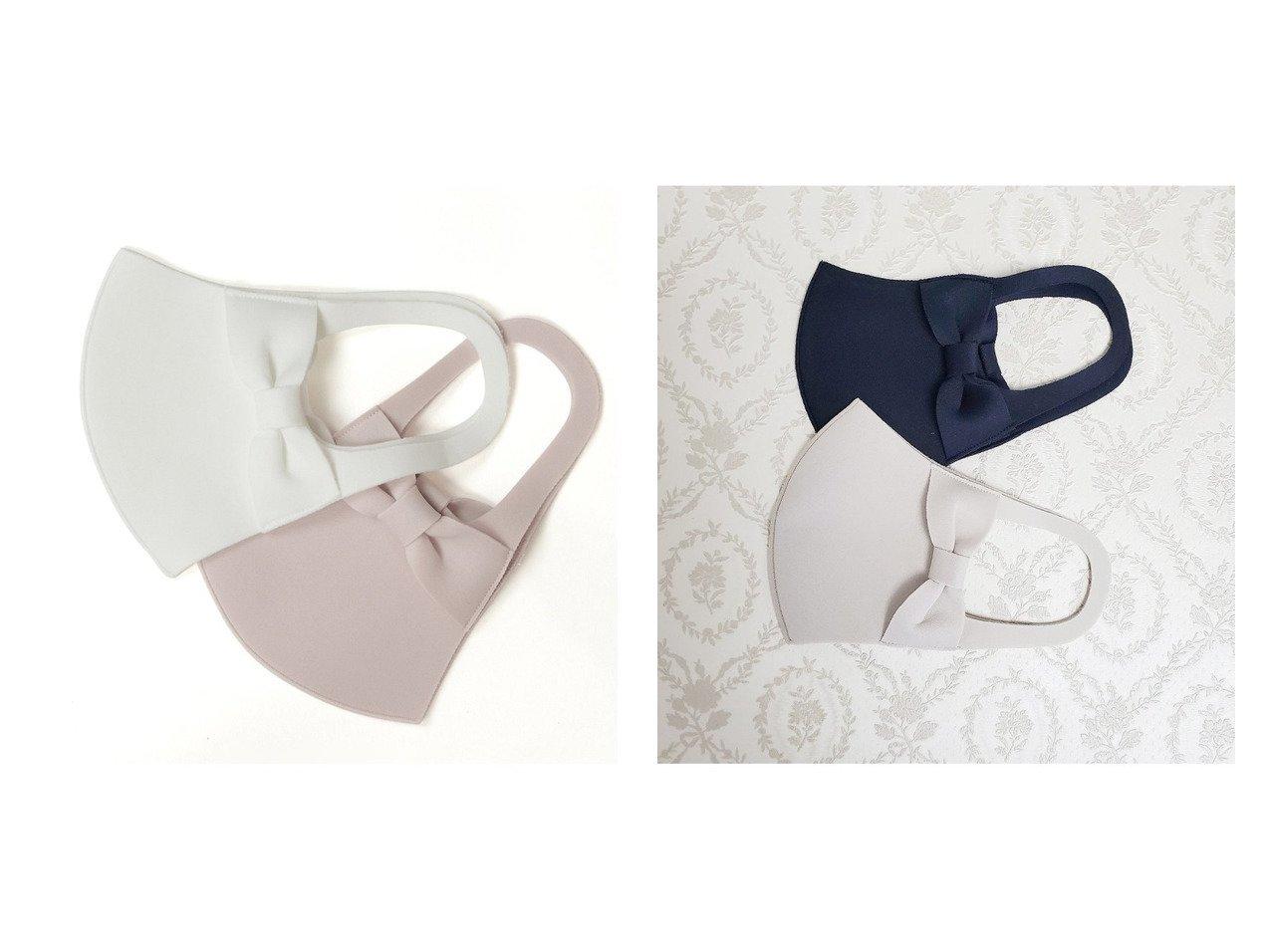 【Rose Tiara/ローズティアラ】の耳が痛くなりにくいマスク リボン 2枚1セット おすすめ!人気、トレンド・レディースファッションの通販 おすすめで人気の流行・トレンド、ファッションの通販商品 インテリア・家具・メンズファッション・キッズファッション・レディースファッション・服の通販 founy(ファニー) https://founy.com/ ファッション Fashion レディースファッション WOMEN ギャザー 吸水 抗菌 パターン フィット フェミニン フリル プリント リボン |ID:crp329100000064094