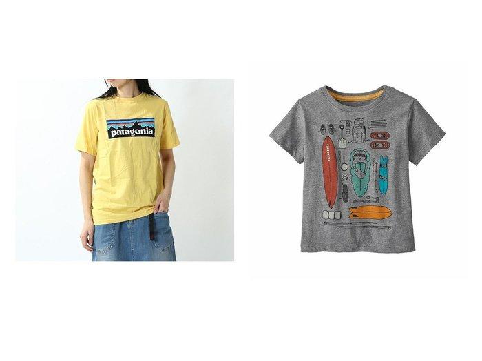 【patagonia / KIDS/パタゴニア】のベビー グラフィックオーガニックTシャツ&ボーイズ P6 ロゴオーガニックTシャツ 【KIDS キャンプ・アウトドア用品】おすすめ!人気、トレンド・キッズファッションの通販 おすすめ人気トレンドファッション通販アイテム インテリア・キッズ・メンズ・レディースファッション・服の通販 founy(ファニー) https://founy.com/ ファッション Fashion キッズファッション KIDS パターン フィット プリント ボーイズ レギュラー |ID:crp329100000064320