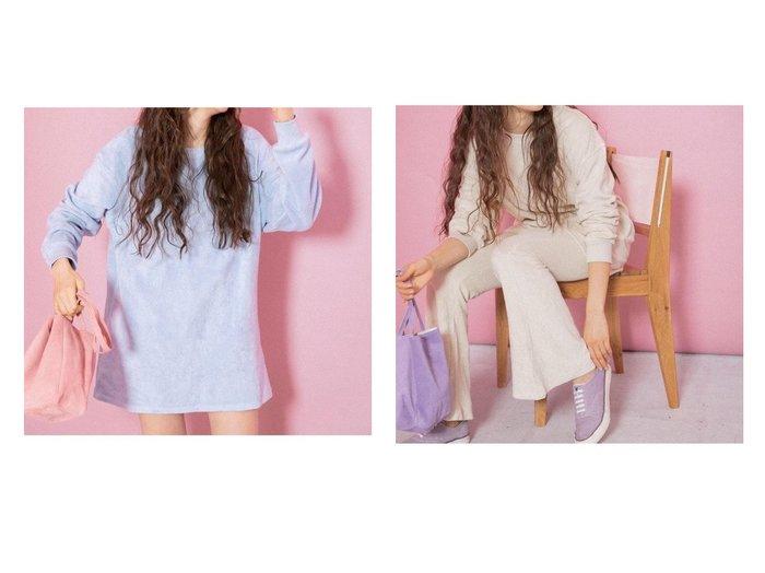 【Sonny Label / URBAN RESEARCH/サニーレーベル】のayakawasakiコラボパイルロングTシャツ&ayakawasakiコラボパイルパンツ おすすめ!人気、トレンド・レディースファッションの通販   おすすめ人気トレンドファッション通販アイテム 人気、トレンドファッション・服の通販 founy(ファニー) ファッション Fashion レディースファッション WOMEN トップス・カットソー Tops/Tshirt シャツ/ブラウス Shirts/Blouses ロング / Tシャツ T-Shirts カットソー Cut and Sewn パンツ Pants アウトドア カットソー シリコン セットアップ バランス ジーンズ フレア |ID:crp329100000064559
