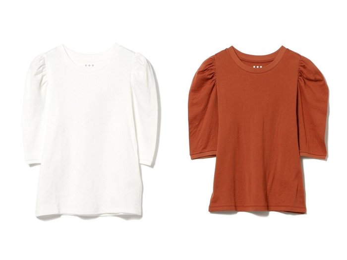 【Demi-Luxe BEAMS/デミルクス ビームス】のギャザースリーブ Tシャツ コラボアイテム おすすめ!人気、トレンド・レディースファッションの通販   おすすめ人気トレンドファッション通販アイテム 人気、トレンドファッション・服の通販 founy(ファニー)  ファッション Fashion レディースファッション WOMEN トップス・カットソー Tops/Tshirt シャツ/ブラウス Shirts/Blouses ロング / Tシャツ T-Shirts カットソー Cut and Sewn カシミヤ カットソー カリフォルニア ギャザー コラボ スリーブ リップ 人気 |ID:crp329100000064569