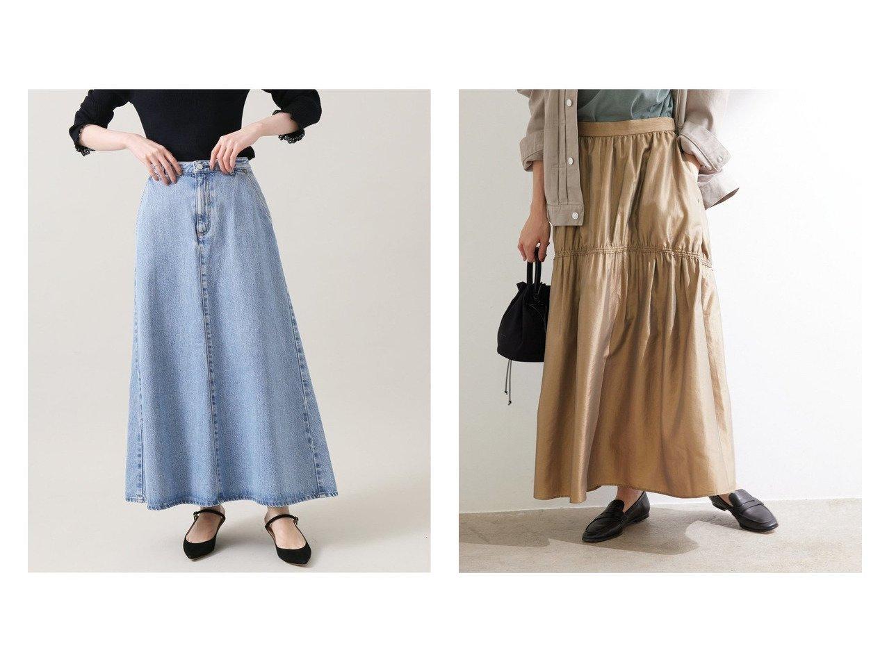 【ROPE'/ロペ】のタフタギャザースカート&【IENA/イエナ】のエコデニムトラペーズスカート 【スカート】おすすめ!人気、トレンド・レディースファッションの通販   おすすめで人気の流行・トレンド、ファッションの通販商品 インテリア・家具・メンズファッション・キッズファッション・レディースファッション・服の通販 founy(ファニー) https://founy.com/ ファッション Fashion レディースファッション WOMEN スカート Skirt ロングスカート Long Skirt インディゴ クラシック シンプル デニム 定番 Standard 人気 フレア ベーシック ロング A/W・秋冬 AW・Autumn/Winter・FW・Fall-Winter 2021年 2021 2021-2022秋冬・A/W AW・Autumn/Winter・FW・Fall-Winter・2021-2022 秋 Autumn/Fall シャンブレー スリット タフタ ティアード バランス ポケット モダン おすすめ Recommend  ID:crp329100000064823
