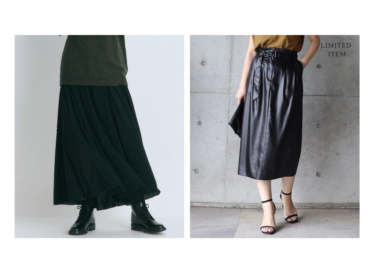 【ATON/エイトン】のCLOUD WOOL CREPE ギャザースカート&【iCB/アイシービー】の【WEB限定】Gloss Satin タックスカート 【スカート】おすすめ!人気、トレンド・レディースファッションの通販   おすすめで人気の流行・トレンド、ファッションの通販商品 インテリア・家具・メンズファッション・キッズファッション・レディースファッション・服の通販 founy(ファニー) https://founy.com/ ファッション Fashion レディースファッション WOMEN スカート Skirt 送料無料 Free Shipping カシミヤ ギャザー シルク ストレッチ 洗える サテン ストレート ミドル A/W・秋冬 AW・Autumn/Winter・FW・Fall-Winter 2021年 2021 2021-2022秋冬・A/W AW・Autumn/Winter・FW・Fall-Winter・2021-2022 おすすめ Recommend  ID:crp329100000064828