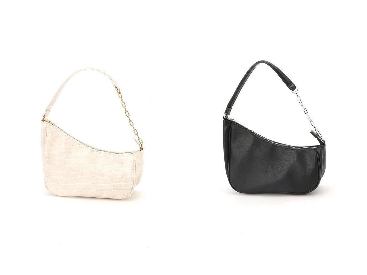 【JEANASiS/ジーナシス】のMOONバケットBAG 【バッグ・鞄】おすすめ!人気、トレンド・レディースファッションの通販   おすすめで人気の流行・トレンド、ファッションの通販商品 インテリア・家具・メンズファッション・キッズファッション・レディースファッション・服の通販 founy(ファニー) https://founy.com/ ファッション Fashion レディースファッション WOMEN バッグ Bag NEW・新作・新着・新入荷 New Arrivals クロコ コンパクト スクエア チェーン 夏 Summer 財布 |ID:crp329100000064844