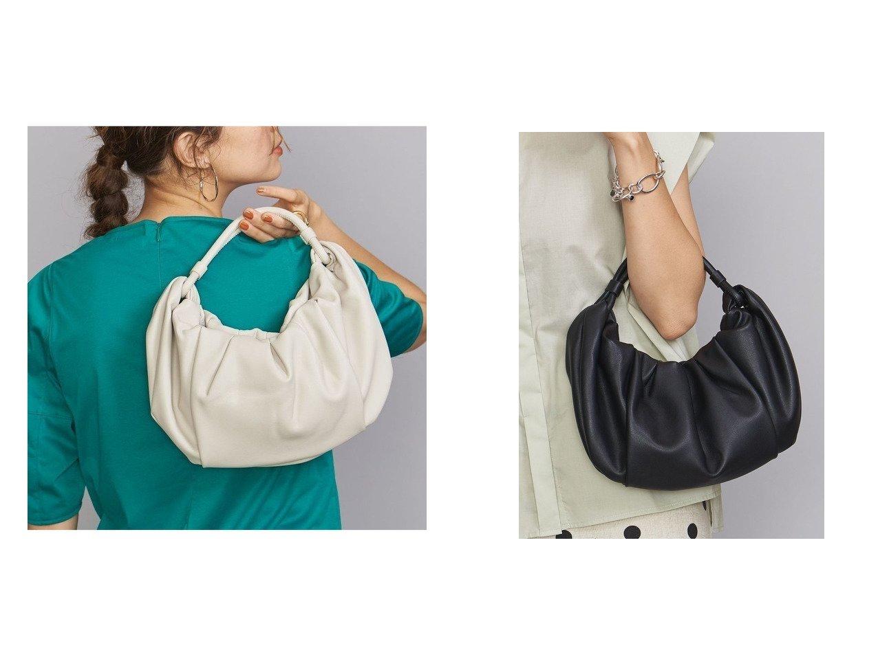 【BEAUTY&YOUTH / UNITED ARROWS/ビューティ&ユース ユナイテッドアローズ】のADD CULUMN ギャザーショルダーバッグ 【バッグ・鞄】おすすめ!人気、トレンド・レディースファッションの通販   おすすめで人気の流行・トレンド、ファッションの通販商品 インテリア・家具・メンズファッション・キッズファッション・レディースファッション・服の通販 founy(ファニー) https://founy.com/ ファッション Fashion レディースファッション WOMEN バッグ Bag ギャザー シンプル トレンド フェイクレザー フォルム ベーシック 再入荷 Restock/Back in Stock/Re Arrival |ID:crp329100000064848