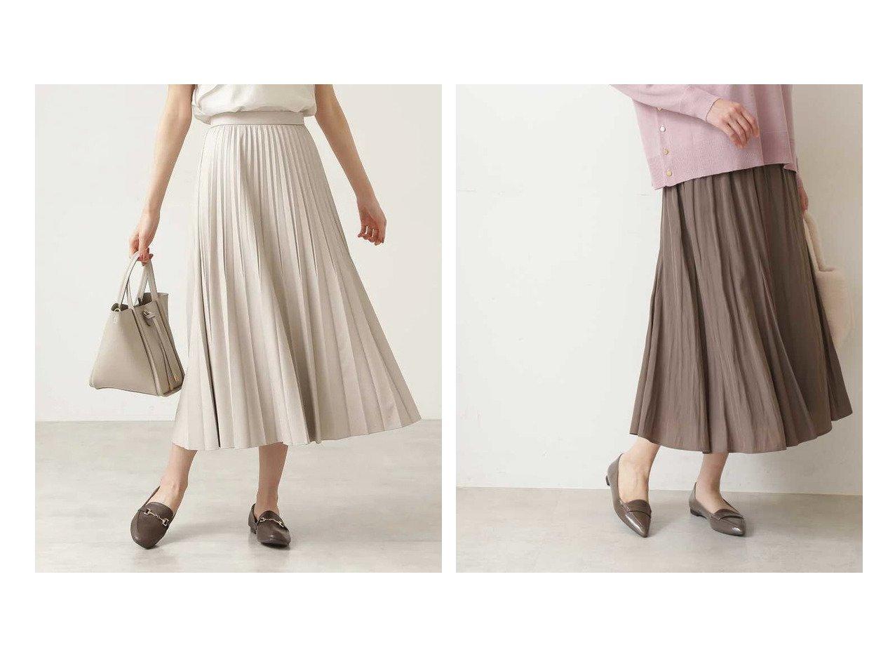 【NATURAL BEAUTY BASIC/ナチュラル ビューティー ベーシック】のフェイクレザープリーツスカート&割繊デシンゴアードスカート 【スカート】おすすめ!人気、トレンド・レディースファッションの通販 おすすめで人気の流行・トレンド、ファッションの通販商品 インテリア・家具・メンズファッション・キッズファッション・レディースファッション・服の通販 founy(ファニー) https://founy.com/ ファッション Fashion レディースファッション WOMEN スカート Skirt プリーツスカート Pleated Skirts A/W・秋冬 AW・Autumn/Winter・FW・Fall-Winter フェイクレザー プリーツ リラックス 定番 Standard  ID:crp329100000065218