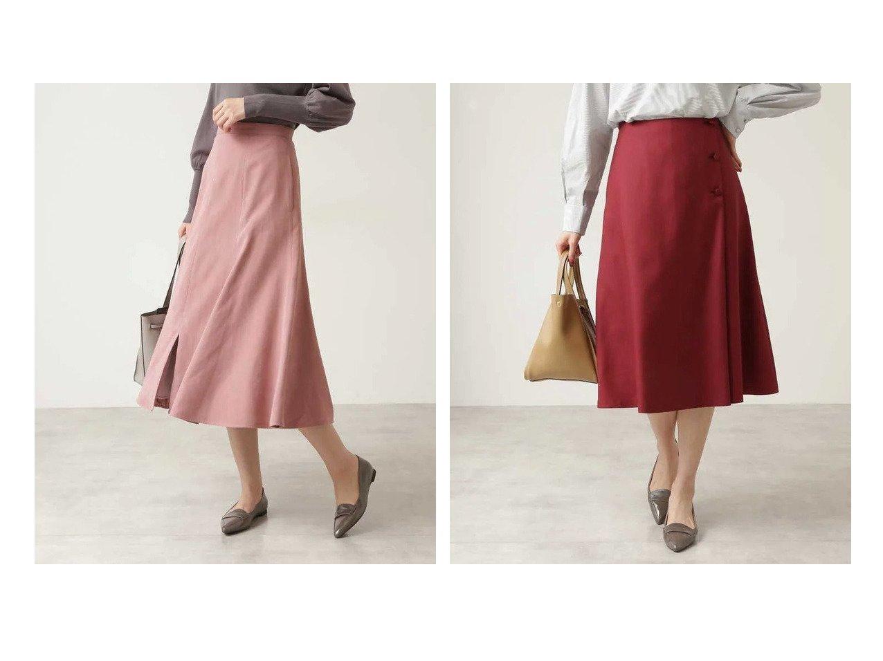 【NATURAL BEAUTY BASIC/ナチュラル ビューティー ベーシック】のフロントスリットスカート&くるみ釦アシメフレアスカート 【スカート】おすすめ!人気、トレンド・レディースファッションの通販 おすすめで人気の流行・トレンド、ファッションの通販商品 インテリア・家具・メンズファッション・キッズファッション・レディースファッション・服の通販 founy(ファニー) https://founy.com/ ファッション Fashion レディースファッション WOMEN スカート Skirt Aライン/フレアスカート Flared A-Line Skirts サテン シンプル スリット ピーチ フレア フロント 秋 Autumn/Fall おすすめ Recommend ジャケット  ID:crp329100000065220