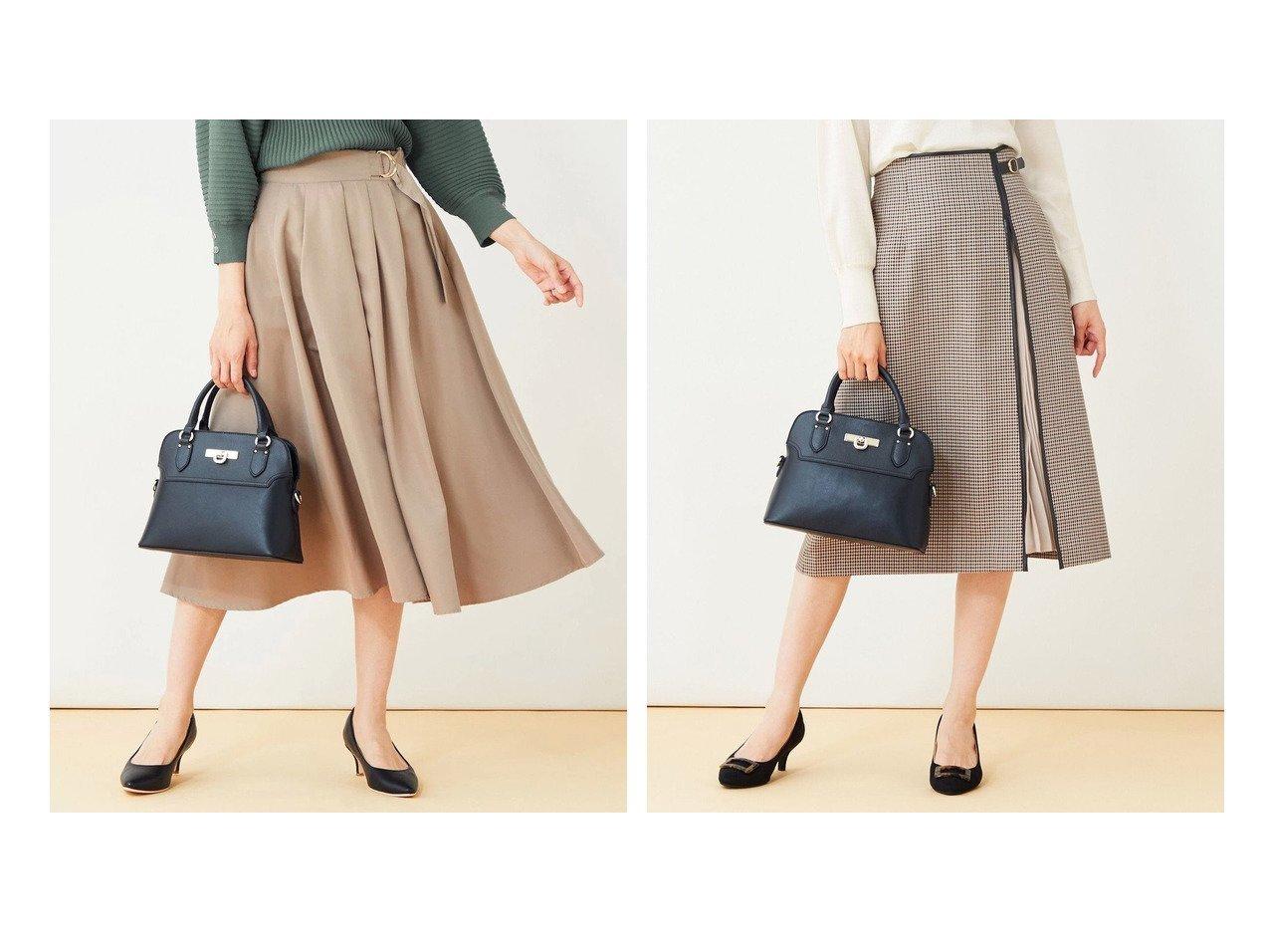 【any SiS/エニィ スィス】の【洗える】バックルポイントタフタ スカート&【洗える】ハイウエスト2WAYレディ スカート 【スカート】おすすめ!人気、トレンド・レディースファッションの通販 おすすめで人気の流行・トレンド、ファッションの通販商品 インテリア・家具・メンズファッション・キッズファッション・レディースファッション・服の通販 founy(ファニー) https://founy.com/ ファッション Fashion レディースファッション WOMEN スカート Skirt バッグ Bag 送料無料 Free Shipping フレア ミモレ 洗える クラシカル シフォン チェック プリーツ 冬 Winter 無地 秋 Autumn/Fall  ID:crp329100000065347
