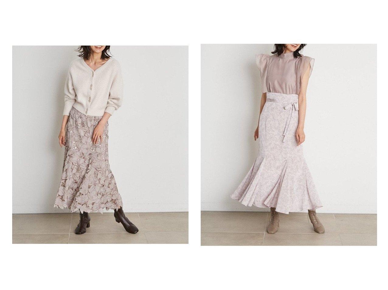 【SNIDEL/スナイデル】のハイウエストマーメイドプリントスカート&Sustainableカッティングレーススカート 【スカート】おすすめ!人気、トレンド・レディースファッションの通販 おすすめで人気の流行・トレンド、ファッションの通販商品 インテリア・家具・メンズファッション・キッズファッション・レディースファッション・服の通販 founy(ファニー) https://founy.com/ ファッション Fashion レディースファッション WOMEN スカート Skirt ロングスカート Long Skirt エレガント パターン フォーマル フレア マーメイド ロング 人気 プリント 定番 Standard |ID:crp329100000065649