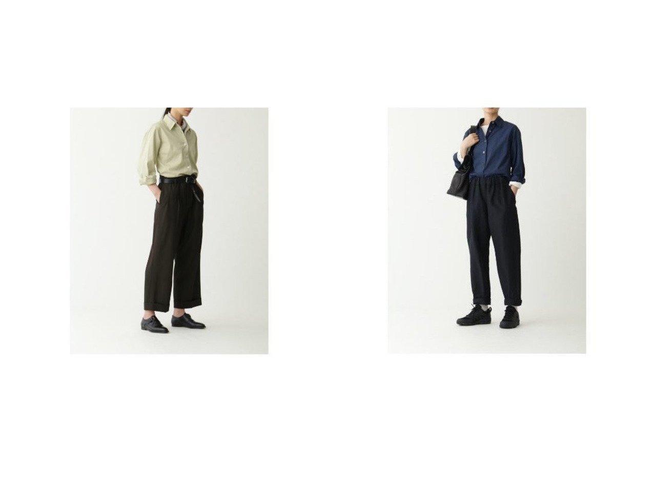 【MARGARET HOWELL/マーガレットハウエル】のCOMPACT COTTON WOOL&PLAINWEAVE WOOL LINEN 【パンツ】おすすめ!人気、トレンド・レディースファッションの通販   おすすめで人気の流行・トレンド、ファッションの通販商品 インテリア・家具・メンズファッション・キッズファッション・レディースファッション・服の通販 founy(ファニー) https://founy.com/ ファッション Fashion レディースファッション WOMEN パンツ Pants ギャザー テーラード ドローコード フラップ フロント ポケット リネン リラックス クロップド ツイル |ID:crp329100000065891