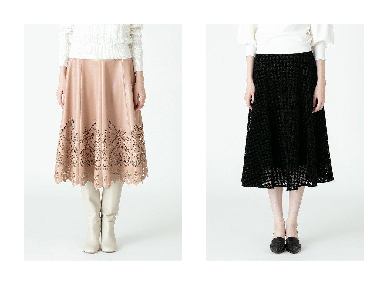 【allureville/アルアバイル】の【LOULOU WILLOUGHBY】フェイクレザーパンチングスカート&【LOULOU WILLOUGHBY】フロッキー千鳥フレアースカート 【スカート】おすすめ!人気、トレンド・レディースファッションの通販   おすすめで人気の流行・トレンド、ファッションの通販商品 インテリア・家具・メンズファッション・キッズファッション・レディースファッション・服の通販 founy(ファニー) https://founy.com/ ファッション Fashion レディースファッション WOMEN スカート Skirt 2020年 2020 2020-2021秋冬・A/W AW・Autumn/Winter・FW・Fall-Winter/2020-2021 2021年 2021 2021-2022秋冬・A/W AW・Autumn/Winter・FW・Fall-Winter・2021-2022 A/W・秋冬 AW・Autumn/Winter・FW・Fall-Winter バランス フレア フレアースカート シンプル フェイクレザー レース  ID:crp329100000065909