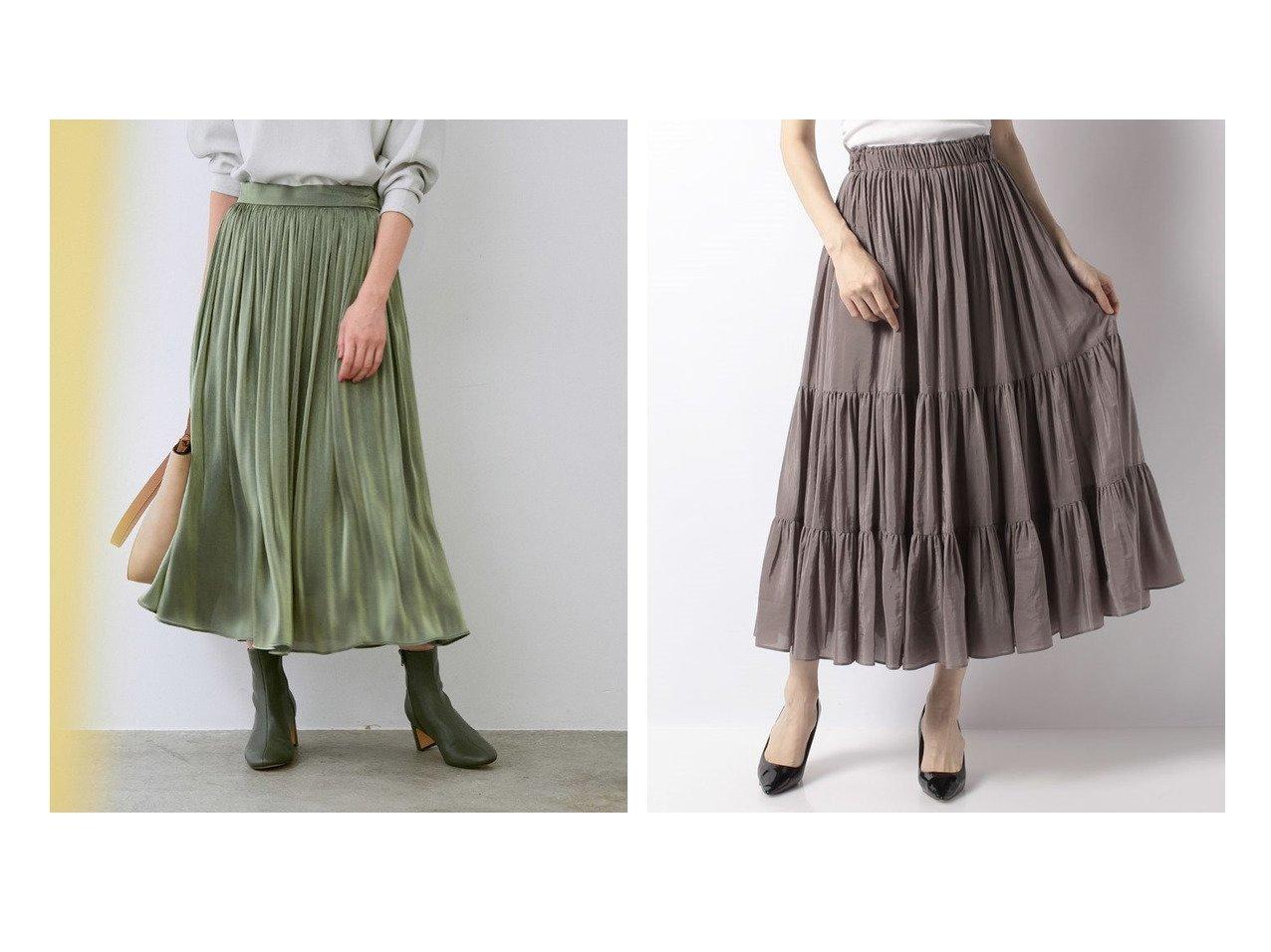 【ANAYI/アナイ】のライトローンティアードスカート&【ROPE'/ロペ】の【21AW】グロッシー楊柳ギャザースカート 【スカート】おすすめ!人気、トレンド・レディースファッションの通販   おすすめで人気の流行・トレンド、ファッションの通販商品 インテリア・家具・メンズファッション・キッズファッション・レディースファッション・服の通販 founy(ファニー) https://founy.com/ ファッション Fashion レディースファッション WOMEN スカート Skirt Aライン/フレアスカート Flared A-Line Skirts ティアードスカート Tiered Skirts 秋 Autumn/Fall ギャザー サテン シンプル トレンド 人気 フラット フレア ポケット A/W・秋冬 AW・Autumn/Winter・FW・Fall-Winter 2021年 2021 再入荷 Restock/Back in Stock/Re Arrival 2021-2022秋冬・A/W AW・Autumn/Winter・FW・Fall-Winter・2021-2022 NEW・新作・新着・新入荷 New Arrivals おすすめ Recommend  ID:crp329100000065916