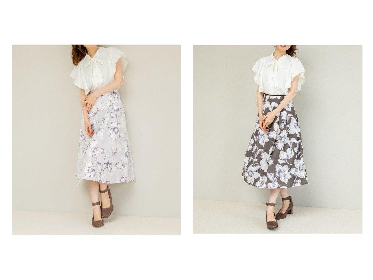 【MISCH MASCH/ミッシュマッシュ】のカラーラインフラワースカート 【スカート】おすすめ!人気、トレンド・レディースファッションの通販   おすすめで人気の流行・トレンド、ファッションの通販商品 インテリア・家具・メンズファッション・キッズファッション・レディースファッション・服の通販 founy(ファニー) https://founy.com/ ファッション Fashion レディースファッション WOMEN スカート Skirt Aライン/フレアスカート Flared A-Line Skirts サテン シンプル パイピング フェミニン フレア ミモレ  ID:crp329100000065925