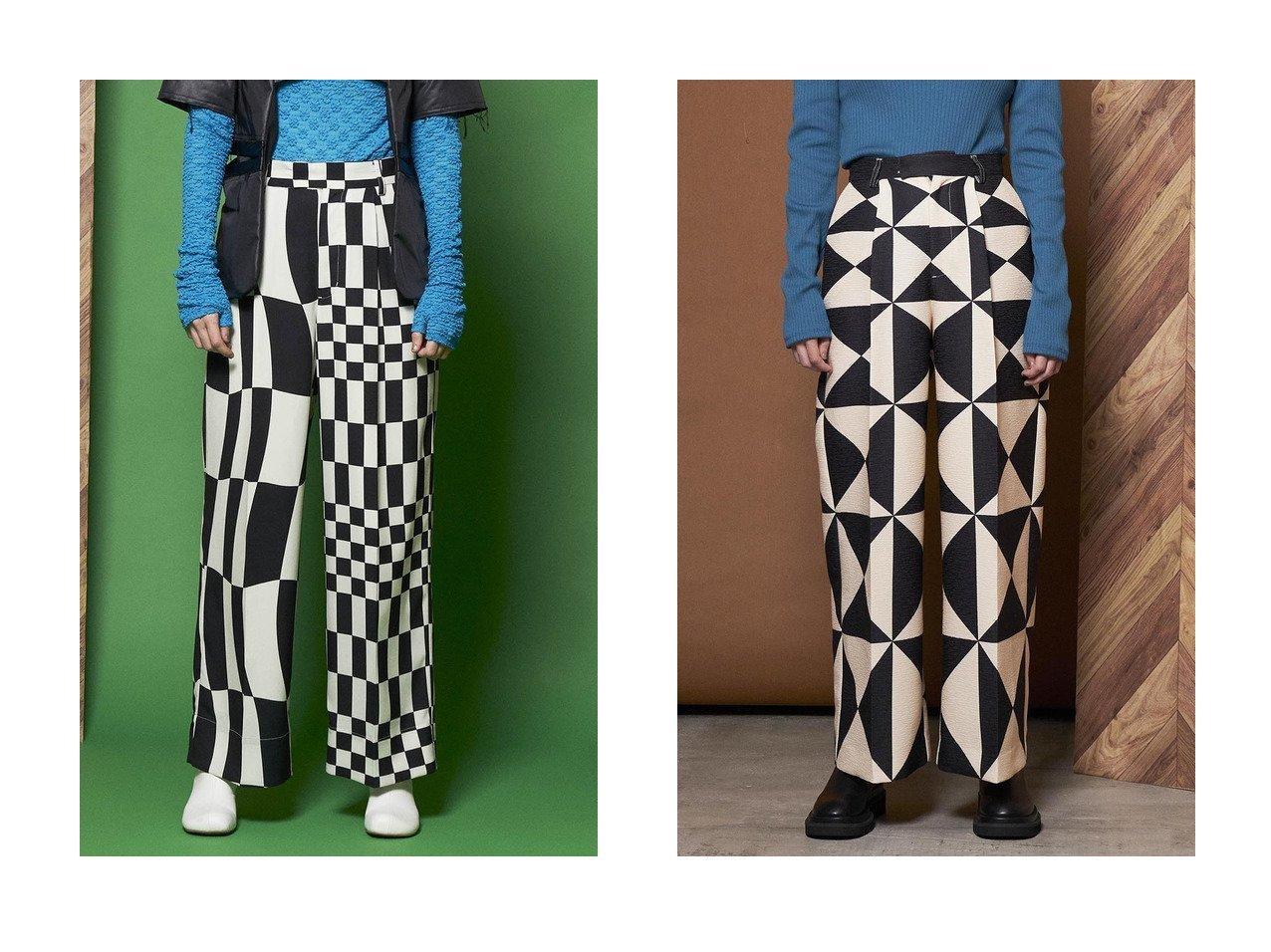 【MAISON SPECIAL/メゾンスペシャル】のミックスパターンワイドパンツ&トライアングル柄ジャガードワイドパンツ 【パンツ】おすすめ!人気、トレンド・レディースファッションの通販   おすすめで人気の流行・トレンド、ファッションの通販商品 インテリア・家具・メンズファッション・キッズファッション・レディースファッション・服の通販 founy(ファニー) https://founy.com/ ファッション Fashion レディースファッション WOMEN パンツ Pants シンプル ストレート トライアングル フィット プリント ワイド  ID:crp329100000066062