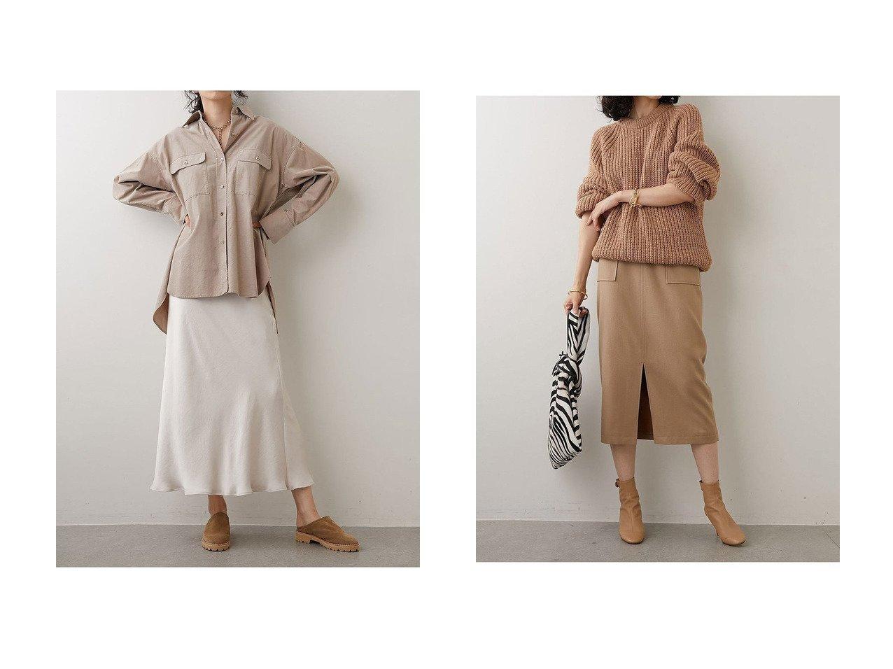 【Whim Gazette/ウィムガゼット】のサテンフレアスカート&FRANO タイトスカート 【スカート】おすすめ!人気、トレンド・レディースファッションの通販   おすすめで人気の流行・トレンド、ファッションの通販商品 インテリア・家具・メンズファッション・キッズファッション・レディースファッション・服の通販 founy(ファニー) https://founy.com/ ファッション Fashion レディースファッション WOMEN スカート Skirt Aライン/フレアスカート Flared A-Line Skirts ロングスカート Long Skirt 2020年 2020 2020-2021秋冬・A/W AW・Autumn/Winter・FW・Fall-Winter/2020-2021 2021年 2021 2021-2022秋冬・A/W AW・Autumn/Winter・FW・Fall-Winter・2021-2022 A/W・秋冬 AW・Autumn/Winter・FW・Fall-Winter シンプル ストレート タイトスカート フロント ベーシック ポケット ミモレ ヴィンテージ バイアス フェミニン ロング |ID:crp329100000066089