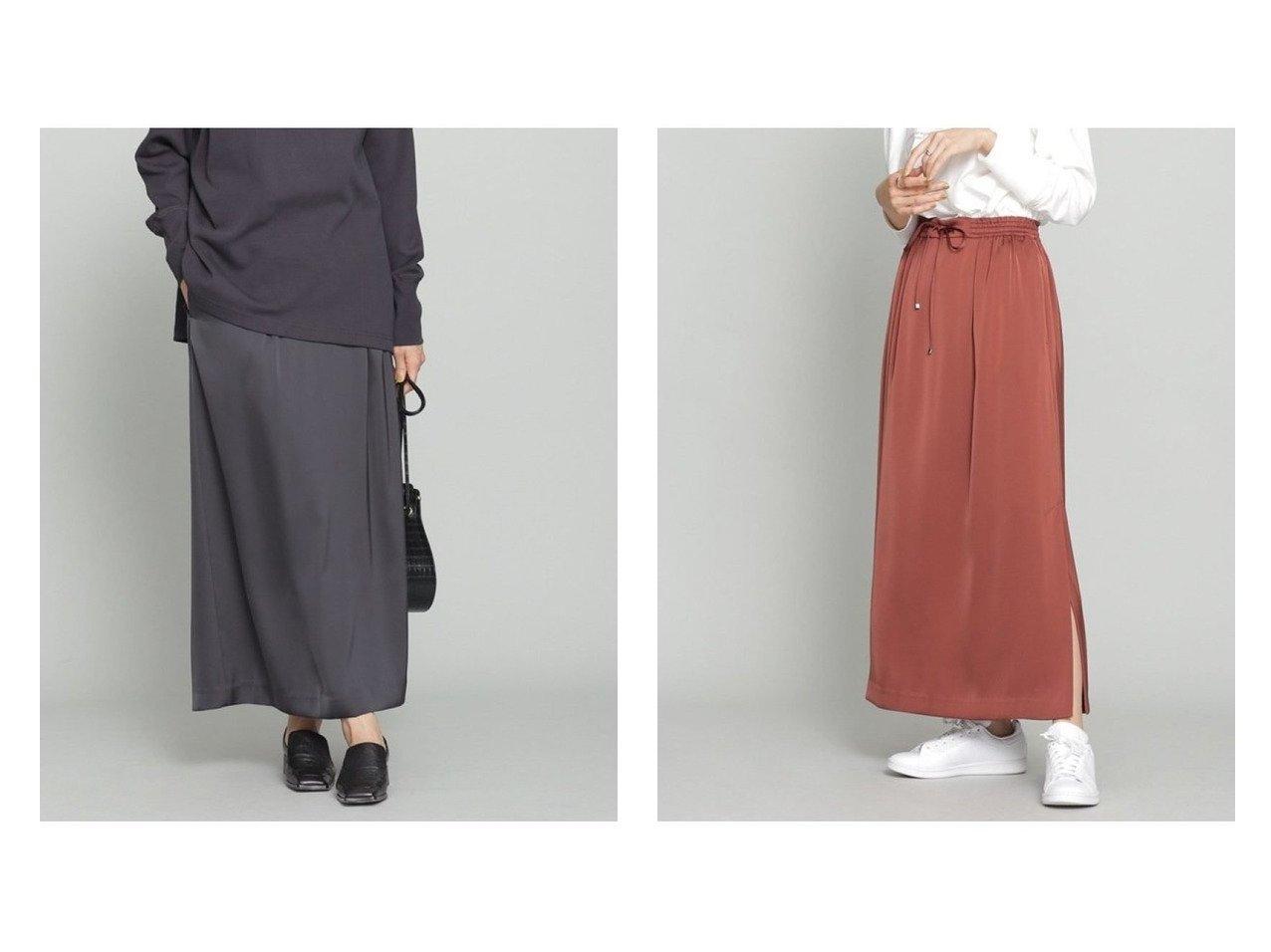 【nano universe/ナノ ユニバース】のサテンスリットイージーロングスカート 【スカート】おすすめ!人気、トレンド・レディースファッションの通販   おすすめで人気の流行・トレンド、ファッションの通販商品 インテリア・家具・メンズファッション・キッズファッション・レディースファッション・服の通販 founy(ファニー) https://founy.com/ ファッション Fashion レディースファッション WOMEN スカート Skirt ロングスカート Long Skirt サテン スリット フラット ロング NEW・新作・新着・新入荷 New Arrivals おすすめ Recommend |ID:crp329100000066099