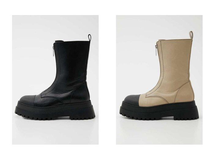 【SLY/スライ】のZIP UP TRACK SOLE ブーツ おすすめ!人気、トレンド・レディースファッションの通販  おすすめ人気トレンドファッション通販アイテム 人気、トレンドファッション・服の通販 founy(ファニー)  ファッション Fashion レディースファッション WOMEN おすすめ Recommend シューズ デニム ミドル 厚底 |ID:crp329100000066254