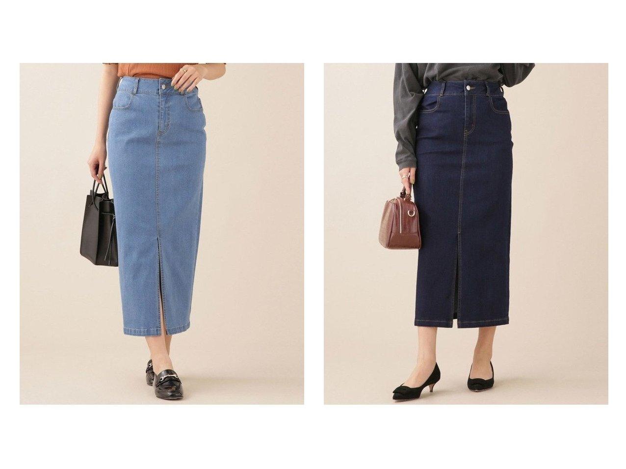 【nano universe/ナノ ユニバース】のWEB限定/ハイウエストタイトデニムスカート 【スカート】おすすめ!人気、トレンド・レディースファッションの通販 おすすめで人気の流行・トレンド、ファッションの通販商品 インテリア・家具・メンズファッション・キッズファッション・レディースファッション・服の通販 founy(ファニー) https://founy.com/ ファッション Fashion レディースファッション WOMEN スカート Skirt デニムスカート Denim Skirts サンダル シューズ ストレッチ スリット デニム トレンド フラット フロント おすすめ Recommend |ID:crp329100000066469