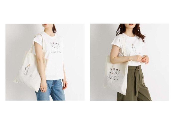 【grove/グローブ】の【S-LL】イラストコラボフレンチTシャツ+トートバッグ 【プチプライス・低価格】おすすめ!人気、トレンド・レディースファッションの通販 おすすめ人気トレンドファッション通販アイテム 人気、トレンドファッション・服の通販 founy(ファニー)  ファッション Fashion レディースファッション WOMEN トップス・カットソー Tops/Tshirt シャツ/ブラウス Shirts/Blouses ロング / Tシャツ T-Shirts カットソー Cut and Sewn NEW・新作・新着・新入荷 New Arrivals イラスト カットソー ガーリー スリーブ フレンチ プリント モチーフ ワンポイント 人気 猫 |ID:crp329100000066562