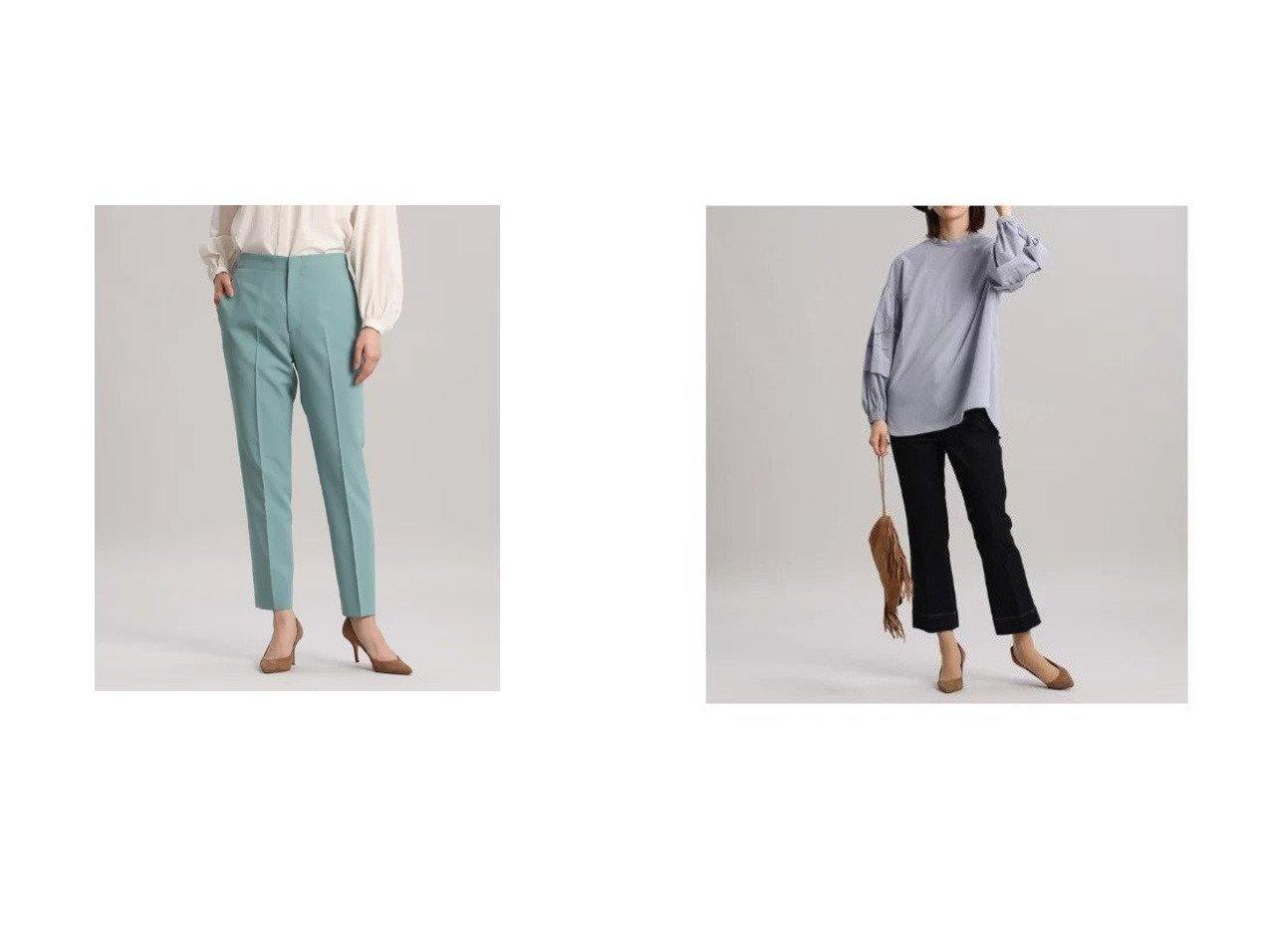 【INED/イネド】の美脚が叶うINEDの名品テーパードパンツ&《INED30th スタイリスト・安西こずえ》トリプルコラボフレアデニム《Healthy DENIM》 【パンツ】おすすめ!人気、トレンド・レディースファッションの通販 おすすめで人気の流行・トレンド、ファッションの通販商品 インテリア・家具・メンズファッション・キッズファッション・レディースファッション・服の通販 founy(ファニー) https://founy.com/ ファッション Fashion レディースファッション WOMEN パンツ Pants インディゴ クロップド コラボ サッカー シンプル スペシャル センター ダメージ デニム トレンド ハイライズ フォルム フレア メンズ 秋 Autumn/Fall ストレッチ 定番 Standard フィット ポケット ロング  ID:crp329100000066626