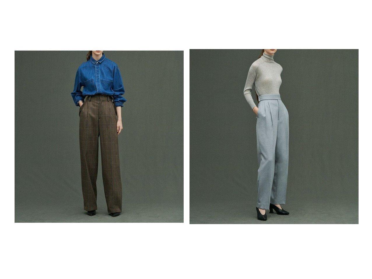 【uncrave/アンクレイヴ】のグレンチェック サスペンダー ワイドパンツ&ストレッチウール パンツ 【パンツ】おすすめ!人気、トレンド・レディースファッションの通販 おすすめで人気の流行・トレンド、ファッションの通販商品 インテリア・家具・メンズファッション・キッズファッション・レディースファッション・服の通販 founy(ファニー) https://founy.com/ ファッション Fashion レディースファッション WOMEN パンツ Pants イタリア サスペンダー チェック バランス フラップ フロント ポケット ループ ワイド 送料無料 Free Shipping なめらか ストレッチ ストレート スーツ  ID:crp329100000066634