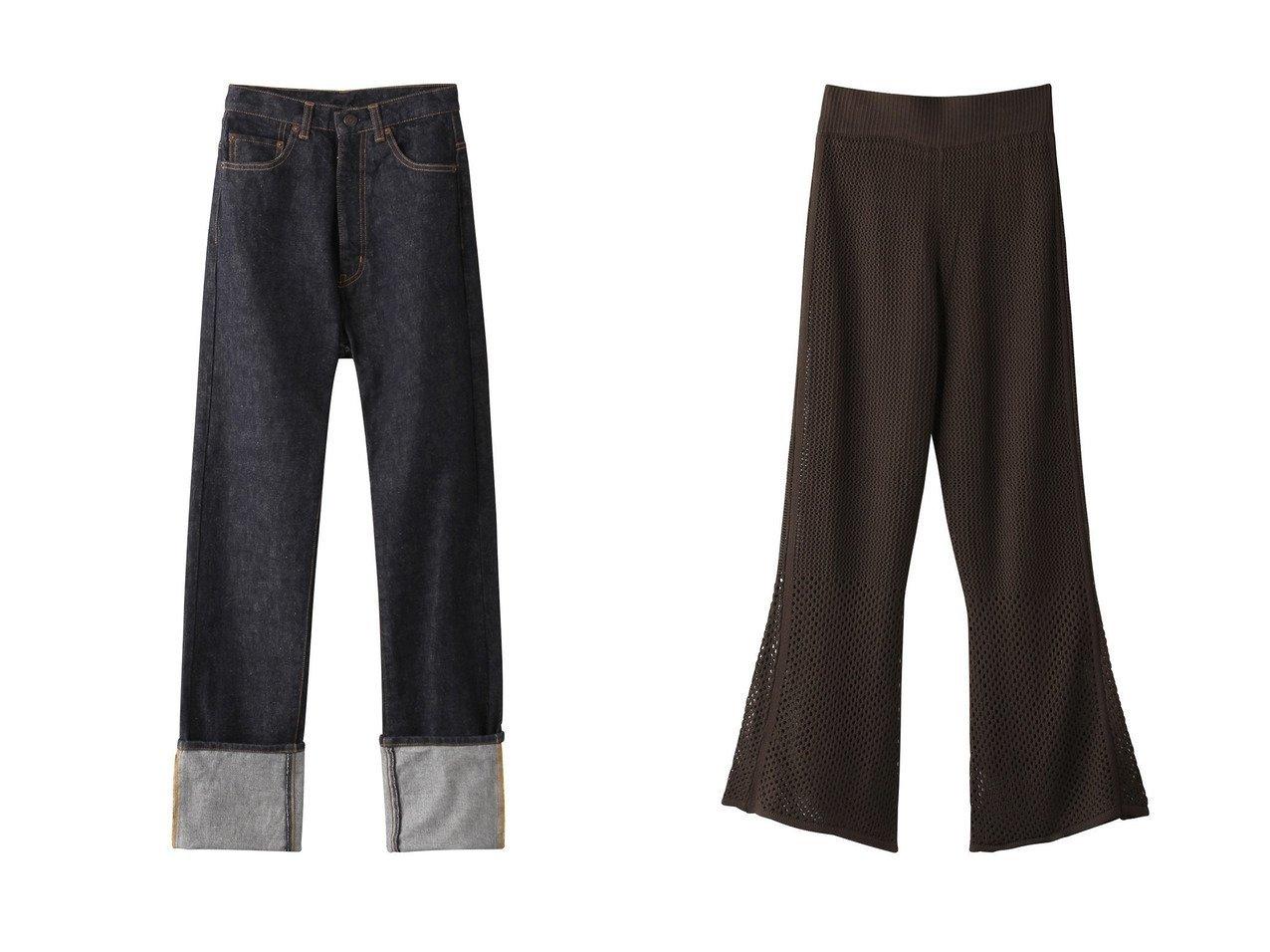 【Whim Gazette/ウィムガゼット】のDENIM5pocketストレートパンツ&【THE PAUSE】透かし編みパンツ 【パンツ】おすすめ!人気、トレンド・レディースファッションの通販 おすすめで人気の流行・トレンド、ファッションの通販商品 インテリア・家具・メンズファッション・キッズファッション・レディースファッション・服の通販 founy(ファニー) https://founy.com/ ファッション Fashion レディースファッション WOMEN パンツ Pants 2020年 2020 2020-2021秋冬・A/W AW・Autumn/Winter・FW・Fall-Winter/2020-2021 2021年 2021 2021-2022秋冬・A/W AW・Autumn/Winter・FW・Fall-Winter・2021-2022 A/W・秋冬 AW・Autumn/Winter・FW・Fall-Winter シアー フレア 透かし ストレート ダメージ デニム ロールアップ |ID:crp329100000067211